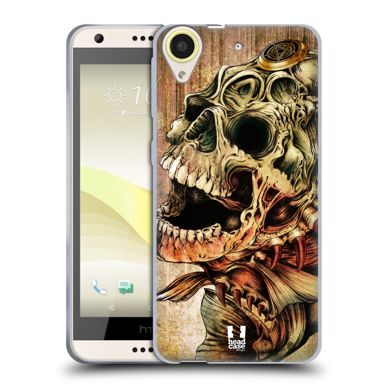 Silikonové pouzdro na mobil HTC Desire 650 HEAD CASE PIRANHA (Silikonový kryt či obal na mobilní telefon HTC Desire 650)