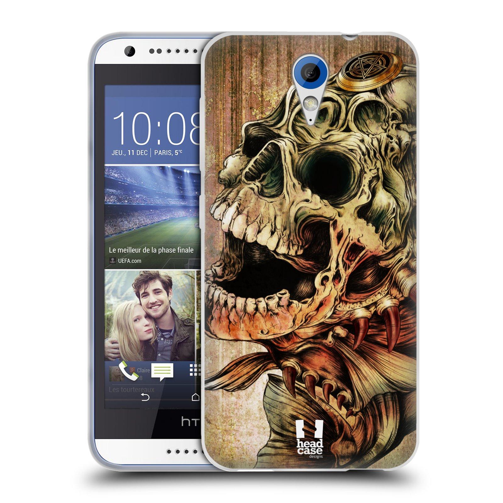 Silikonové pouzdro na mobil HTC Desire 620 HEAD CASE PIRANHA (Silikonový kryt či obal na mobilní telefon HTC Desire 620)