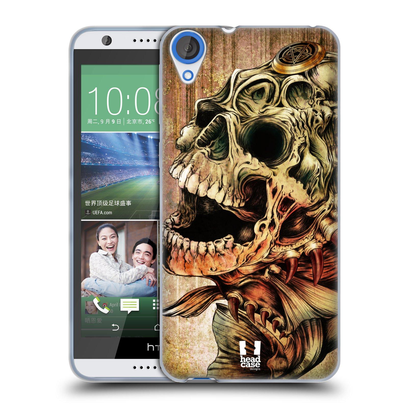 Silikonové pouzdro na mobil HTC Desire 820 HEAD CASE PIRANHA (Silikonový kryt či obal na mobilní telefon HTC Desire 820)