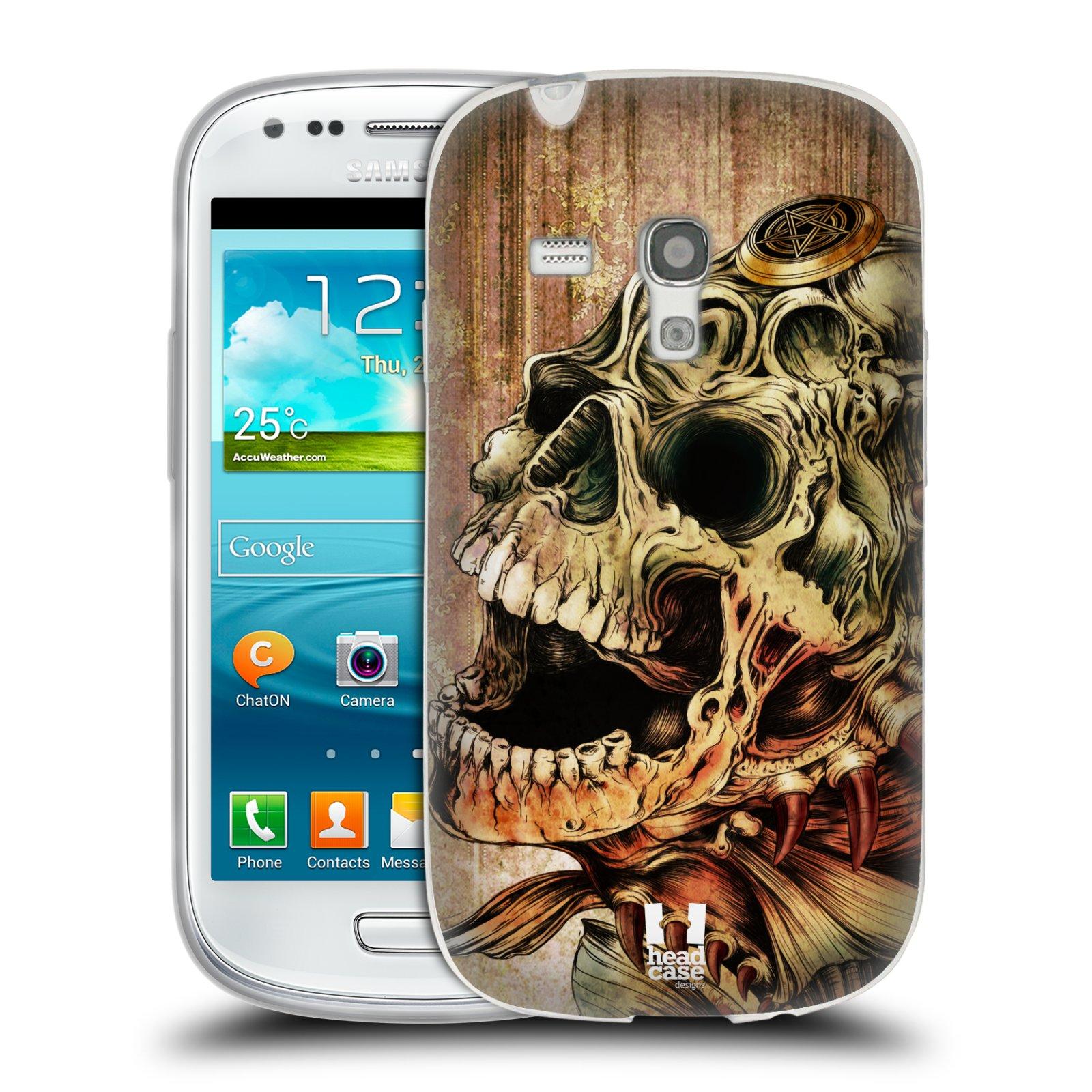 Silikonové pouzdro na mobil Samsung Galaxy S III Mini HEAD CASE PIRANHA (Silikonový kryt či obal na mobilní telefon Samsung Galaxy S III Mini GT-i8190)