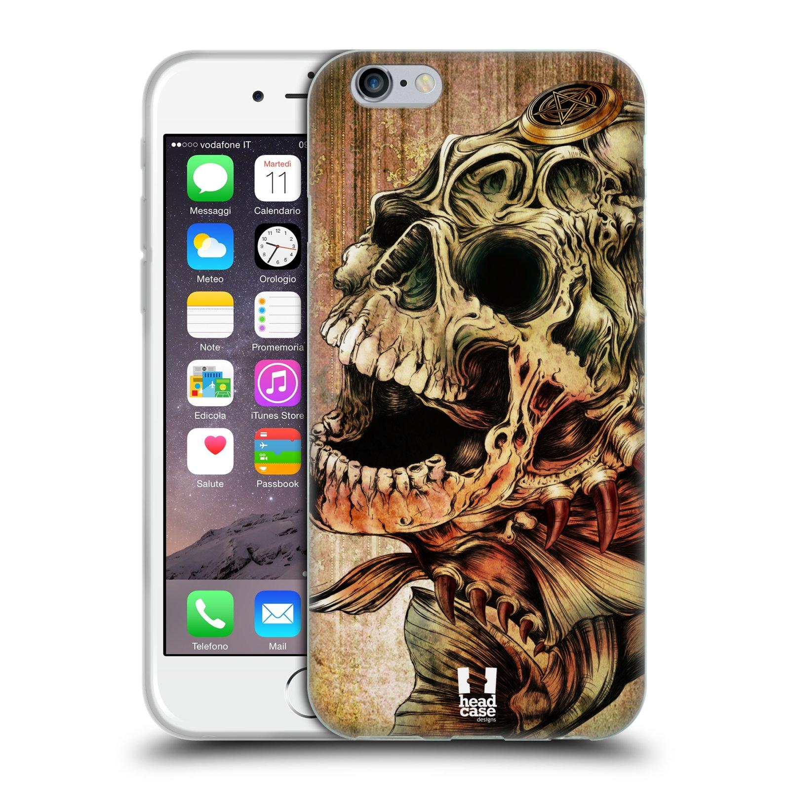 Silikonové pouzdro na mobil Apple iPhone 6 a 6S HEAD CASE PIRANHA ... bfb964ba0a2