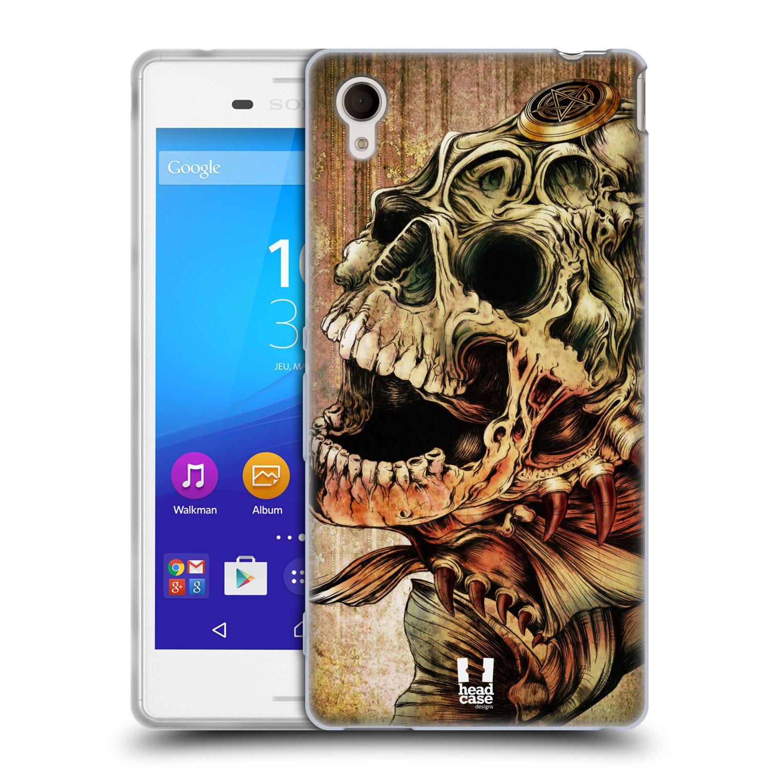 Silikonové pouzdro na mobil Sony Xperia M4 Aqua E2303 HEAD CASE PIRANHA (Silikonový kryt či obal na mobilní telefon Sony Xperia M4 Aqua a M4 Aqua Dual SIM)
