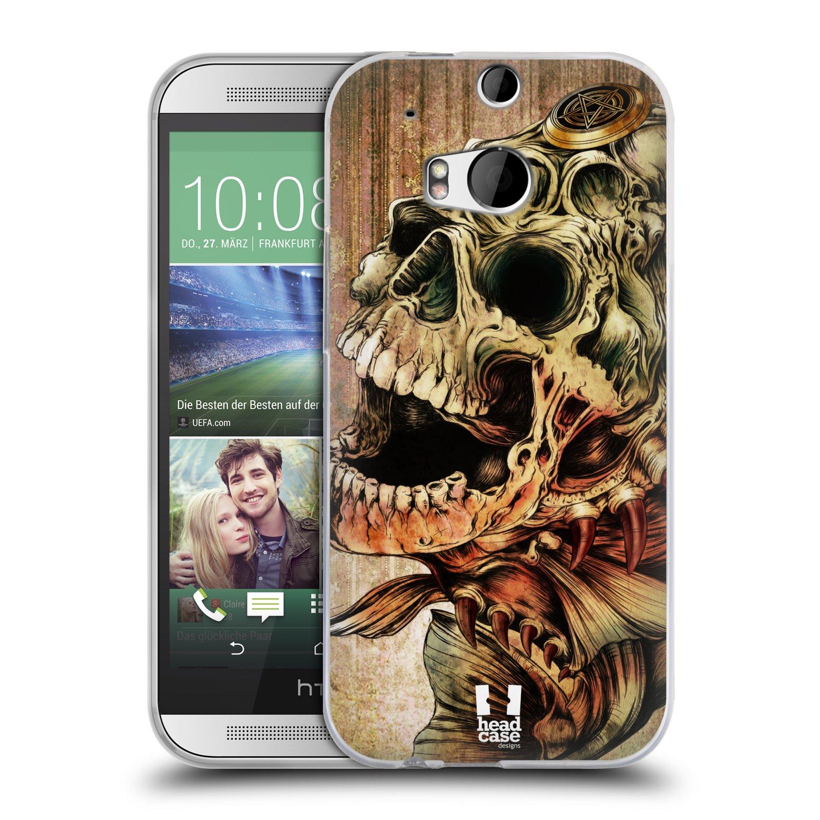 Silikonové pouzdro na mobil HTC ONE M8 HEAD CASE PIRANHA (Silikonový kryt či obal na mobilní telefon HTC ONE M8)