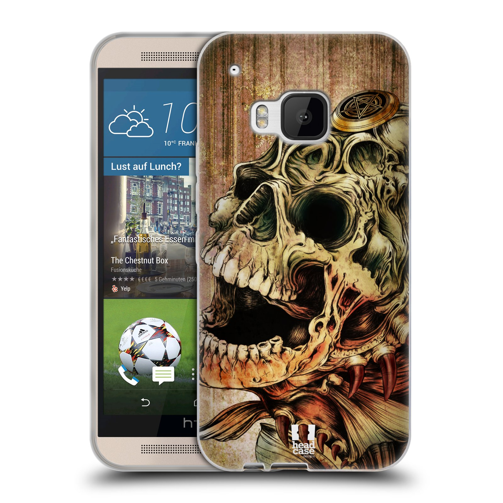 Silikonové pouzdro na mobil HTC ONE M9 HEAD CASE PIRANHA (Silikonový kryt či obal na mobilní telefon HTC ONE M9)