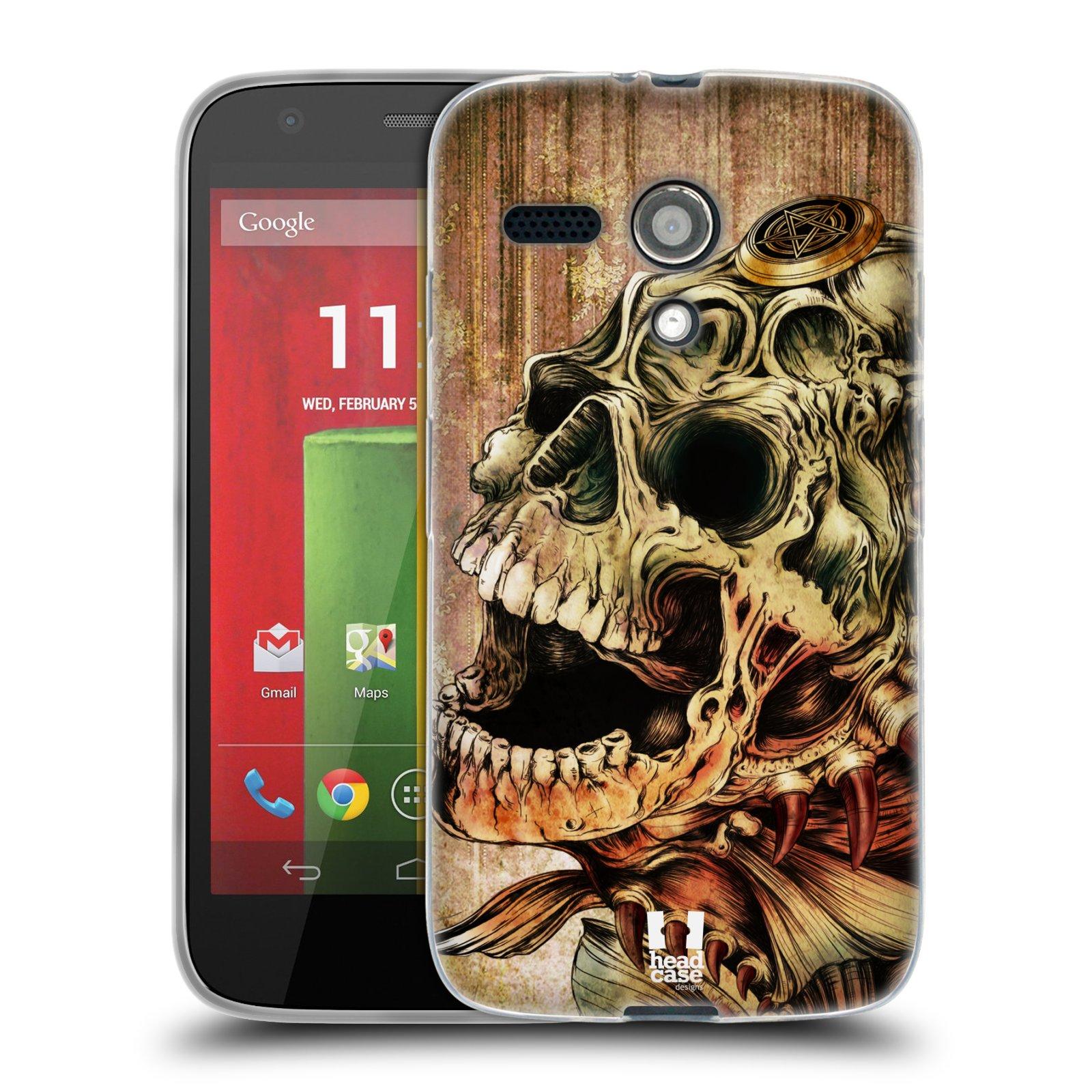 Silikonové pouzdro na mobil Motorola Moto G HEAD CASE PIRANHA (Silikonový kryt či obal na mobilní telefon Motorola Moto G)