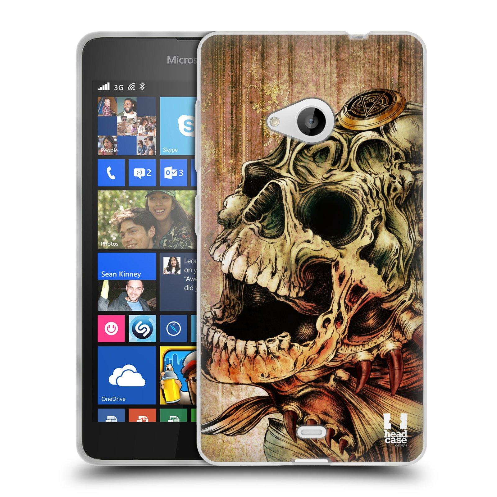 Silikonové pouzdro na mobil Microsoft Lumia 535 HEAD CASE PIRANHA (Silikonový kryt či obal na mobilní telefon Microsoft Lumia 535)
