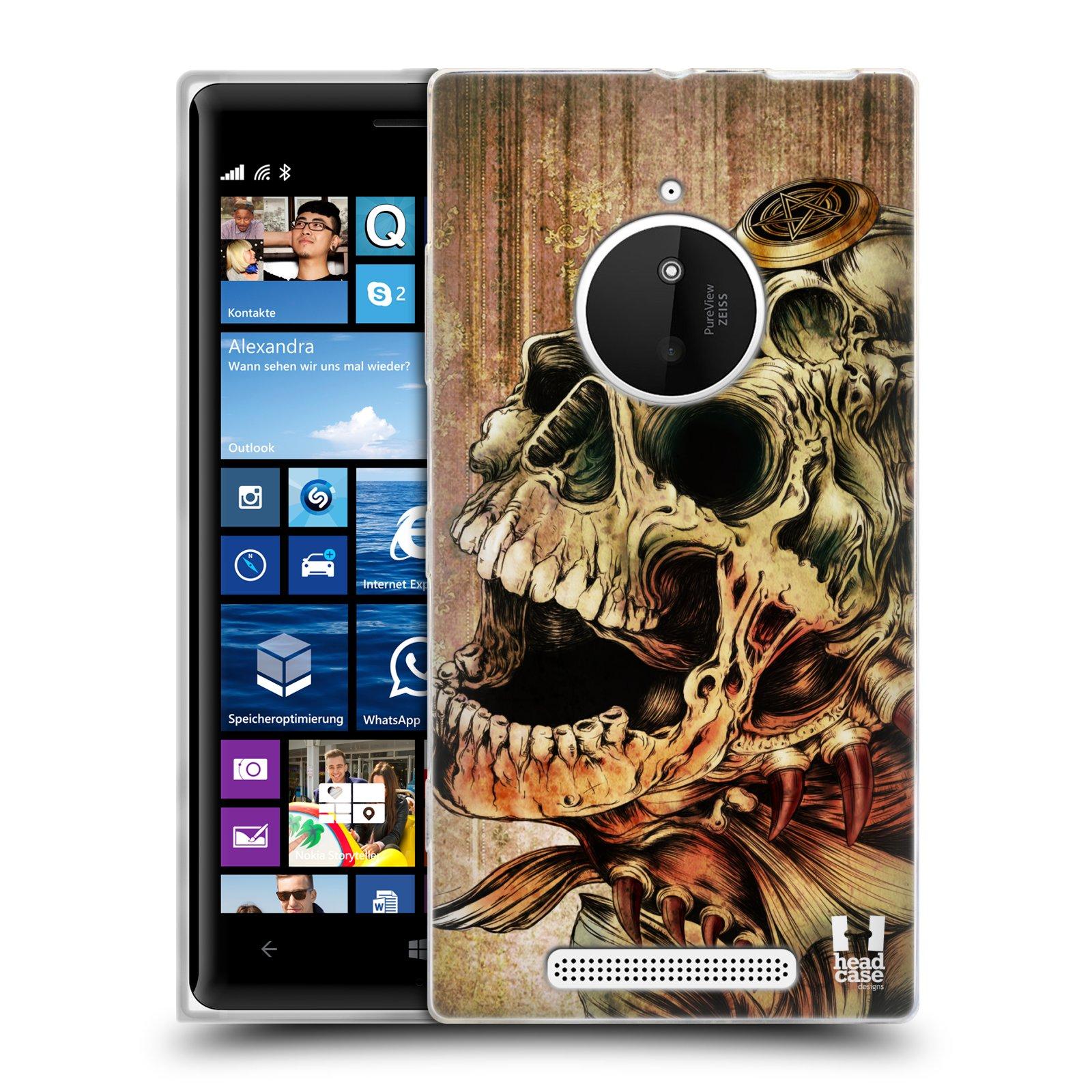 Silikonové pouzdro na mobil Nokia Lumia 830 HEAD CASE PIRANHA (Silikonový kryt či obal na mobilní telefon Nokia Lumia 830)