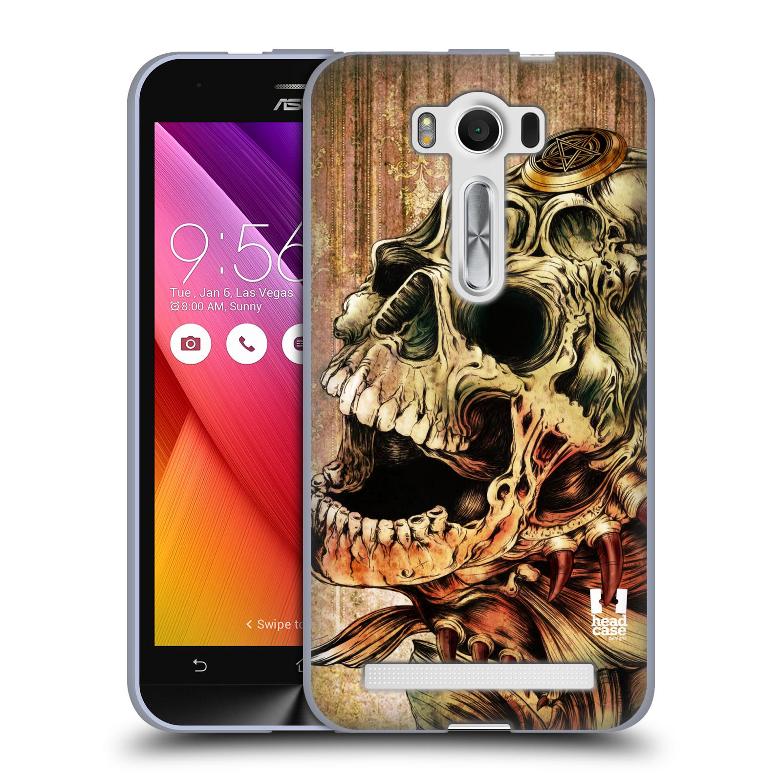 """Silikonové pouzdro na mobil Asus ZenFone 2 Laser ZE500KL HEAD CASE PIRANHA (Silikonový kryt či obal na mobilní telefon Asus ZenFone 2 Laser ZE500KL s 5"""" displejem)"""