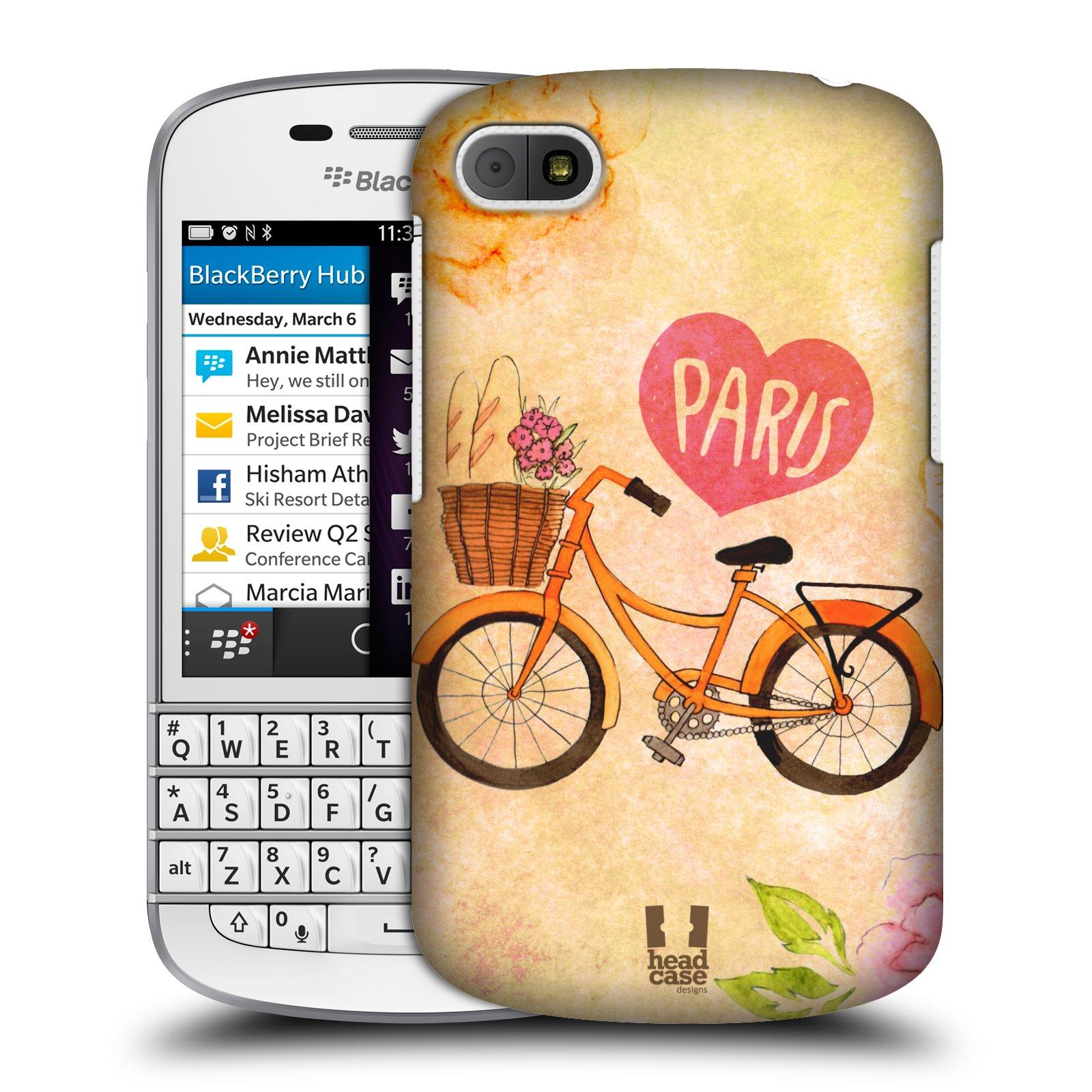Plastové pouzdro na mobil Blackberry Q10 HEAD CASE PAŘÍŽ NA KOLE (Kryt či obal na mobilní telefon Blackberry Q10)