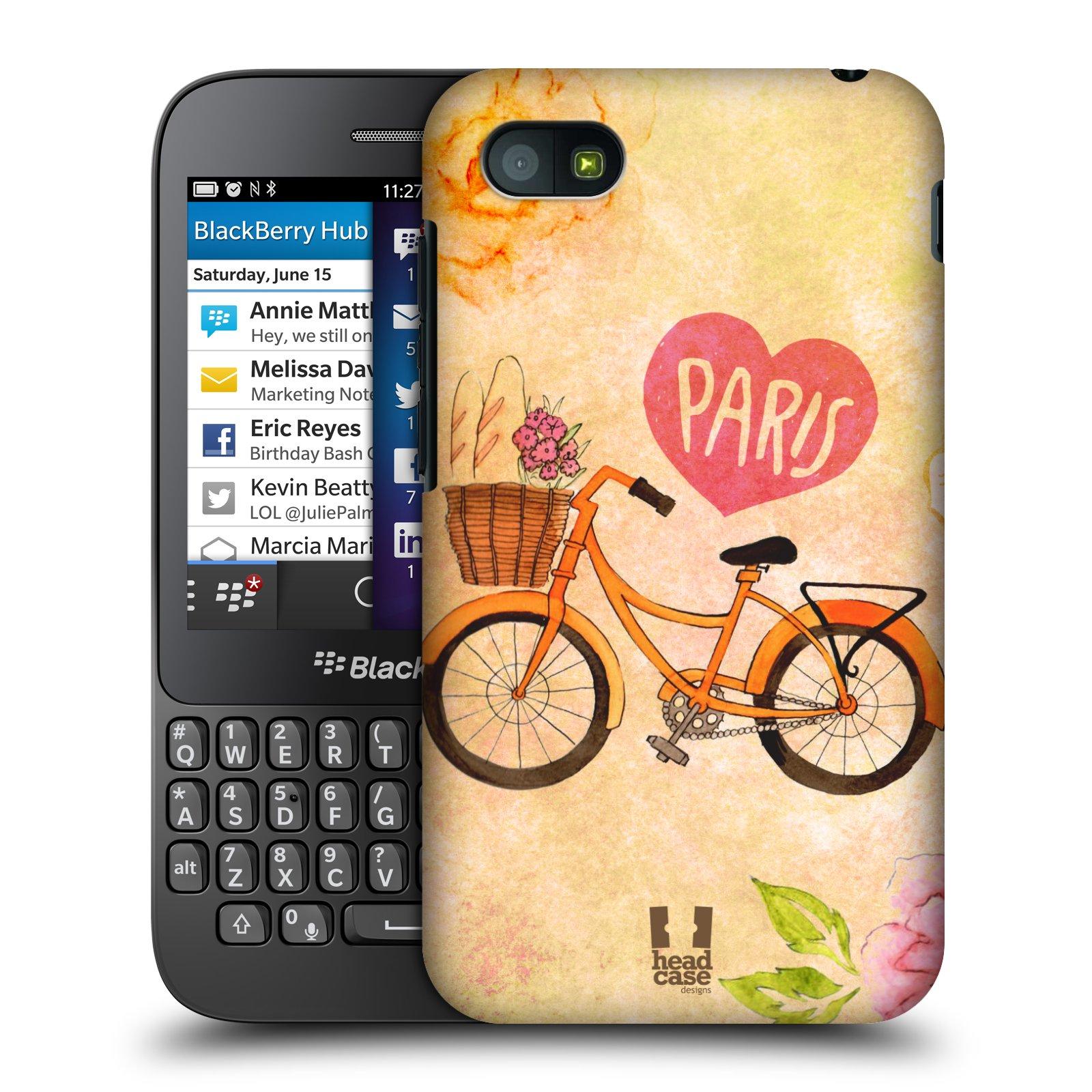 Plastové pouzdro na mobil Blackberry Q5 HEAD CASE PAŘÍŽ NA KOLE (Kryt či obal na mobilní telefon Blackberry Q5)