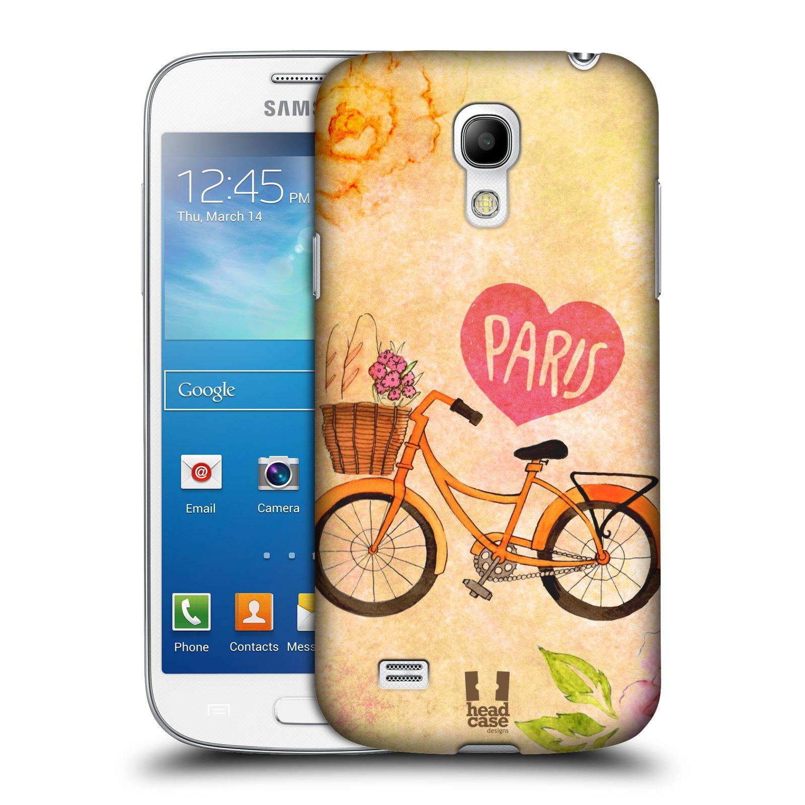 Plastové pouzdro na mobil Samsung Galaxy S4 Mini HEAD CASE PAŘÍŽ NA KOLE