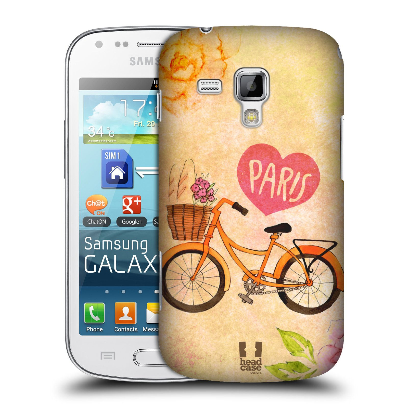 Plastové pouzdro na mobil Samsung Galaxy Trend Plus HEAD CASE PAŘÍŽ NA KOLE (Kryt či obal na mobilní telefon Samsung Galaxy Trend Plus GT-S7580)