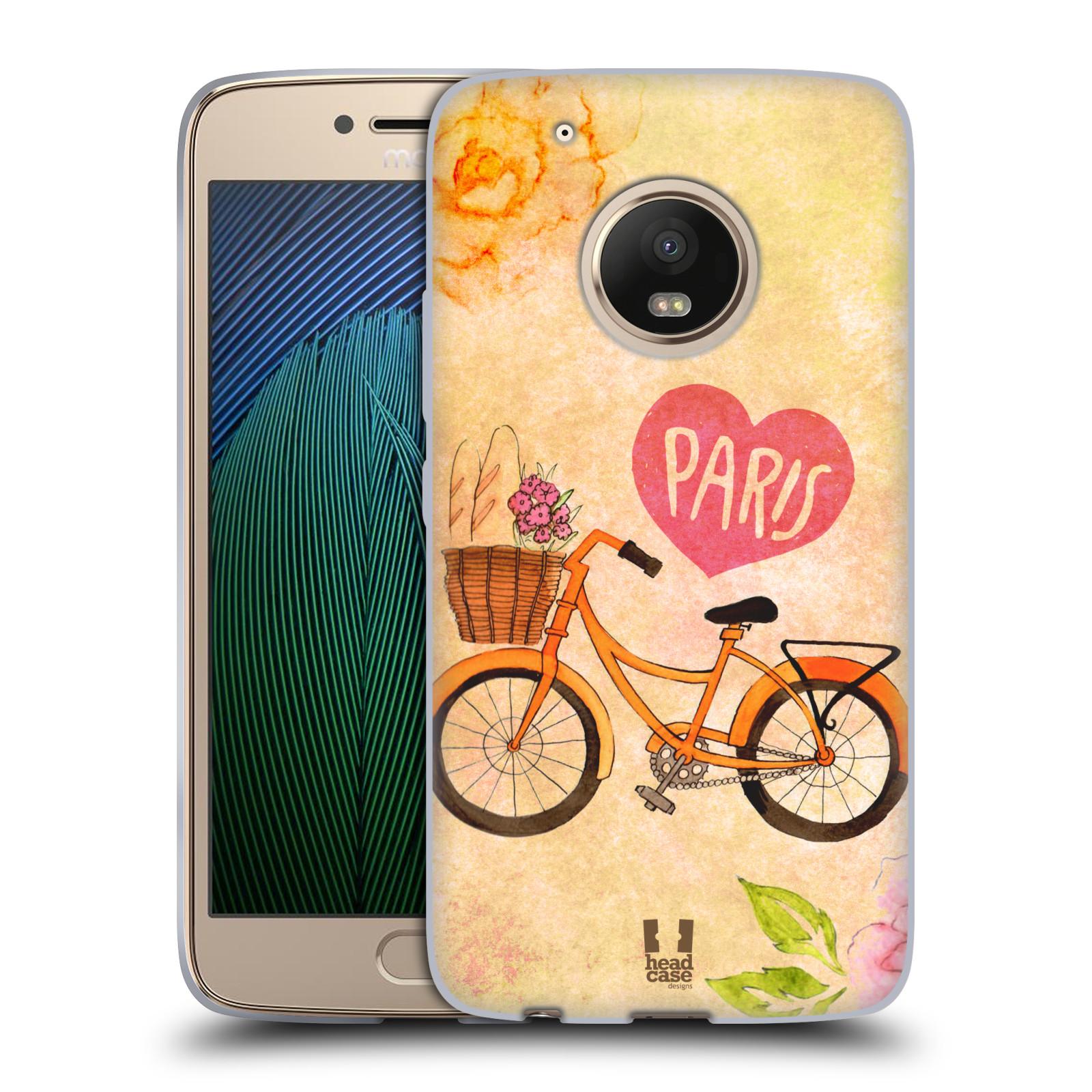 Silikonové pouzdro na mobil Lenovo Moto G5 Plus - Head Case PAŘÍŽ NA KOLE 87e048fe601