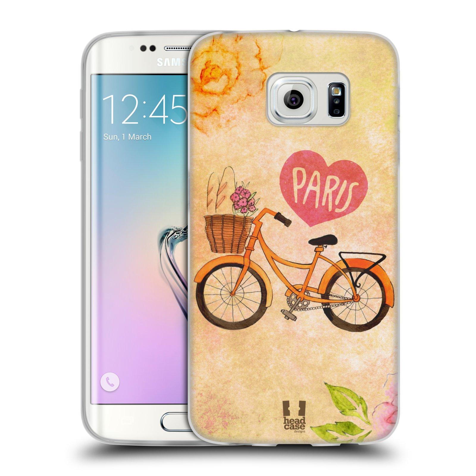 Silikonové pouzdro na mobil Samsung Galaxy S6 Edge HEAD CASE PAŘÍŽ NA KOLE (Silikonový kryt či obal na mobilní telefon Samsung Galaxy S6 Edge SM-G925F)