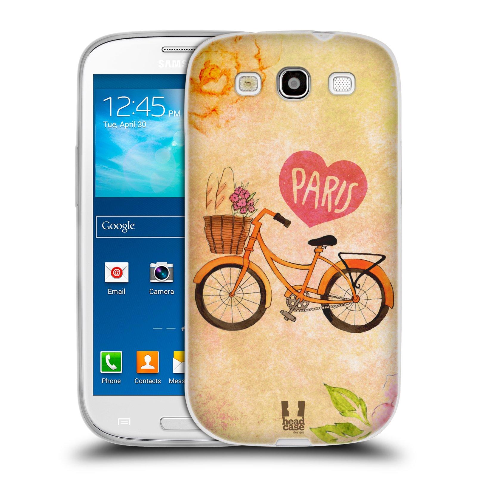 Silikonové pouzdro na mobil Samsung Galaxy S3 Neo HEAD CASE PAŘÍŽ NA KOLE (Silikonový kryt či obal na mobilní telefon Samsung Galaxy S3 Neo GT-i9301i)