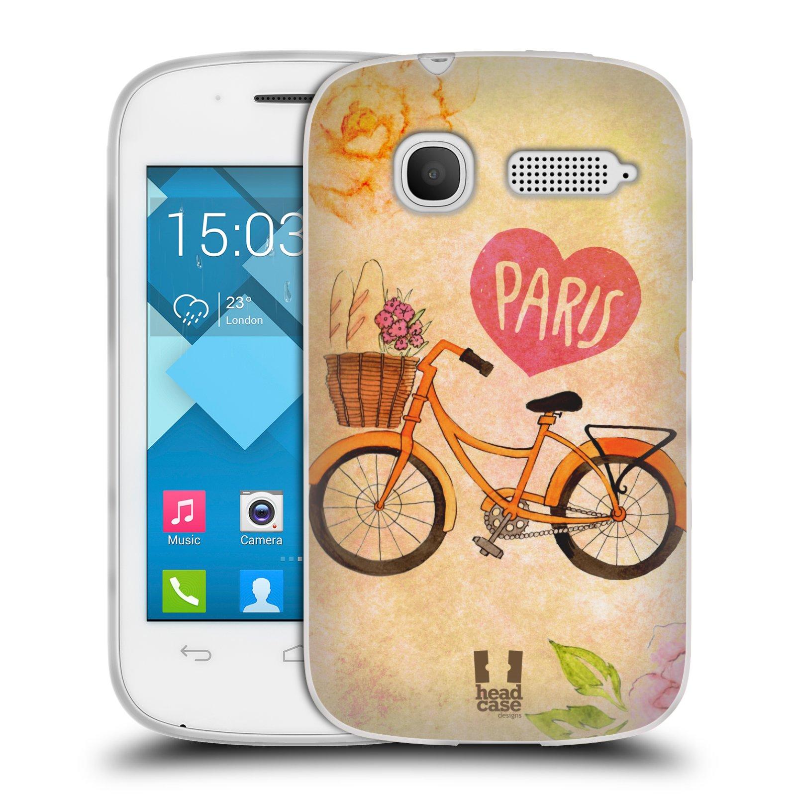 Silikonové pouzdro na mobil Alcatel One Touch Pop C1 HEAD CASE PAŘÍŽ NA KOLE (Silikonový kryt či obal na mobilní telefon Alcatel OT-4015D POP C1)