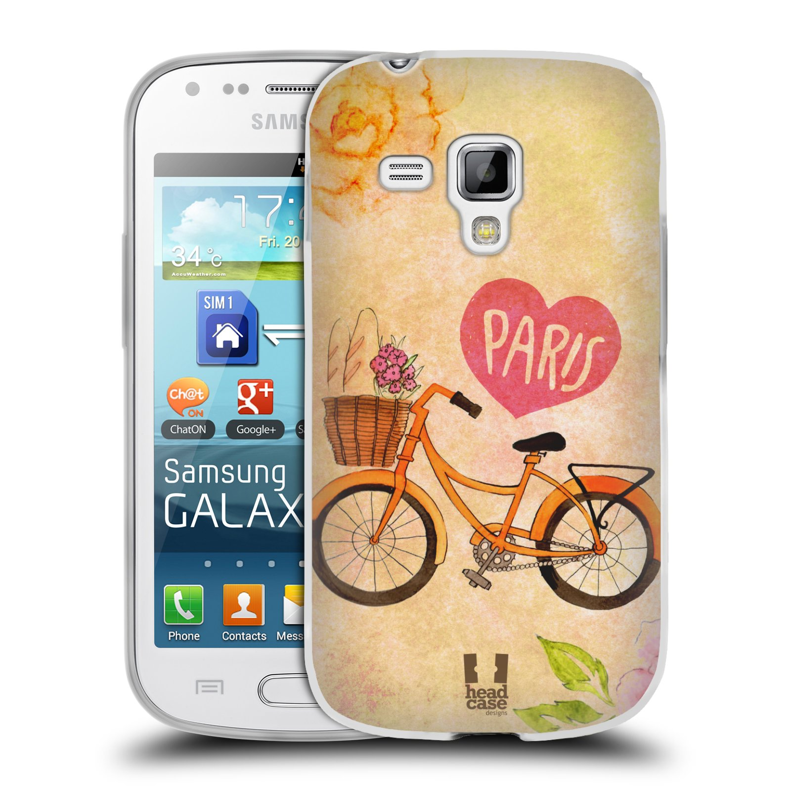 Silikonové pouzdro na mobil Samsung Galaxy Trend Plus HEAD CASE PAŘÍŽ NA KOLE (Silikonový kryt či obal na mobilní telefon Samsung Galaxy Trend Plus GT-S7580)