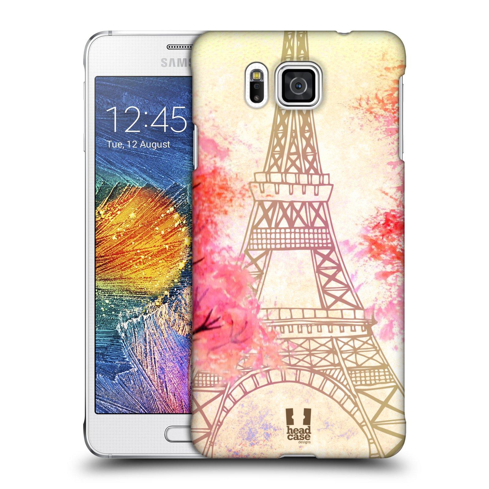 Plastové pouzdro na mobil Samsung Galaxy Alpha HEAD CASE PAŘÍŽ TREES