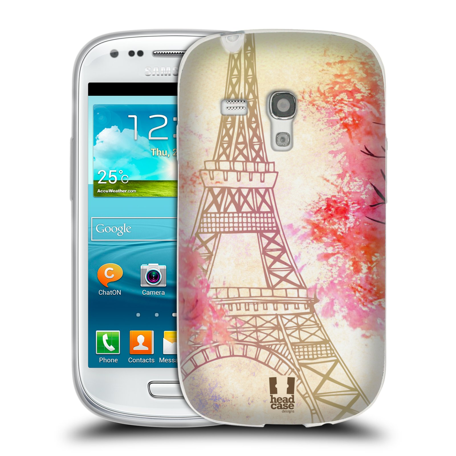 Silikonové pouzdro na mobil Samsung Galaxy S III Mini HEAD CASE PAŘÍŽ TREES (Silikonový kryt či obal na mobilní telefon Samsung Galaxy S III Mini GT-i8190)