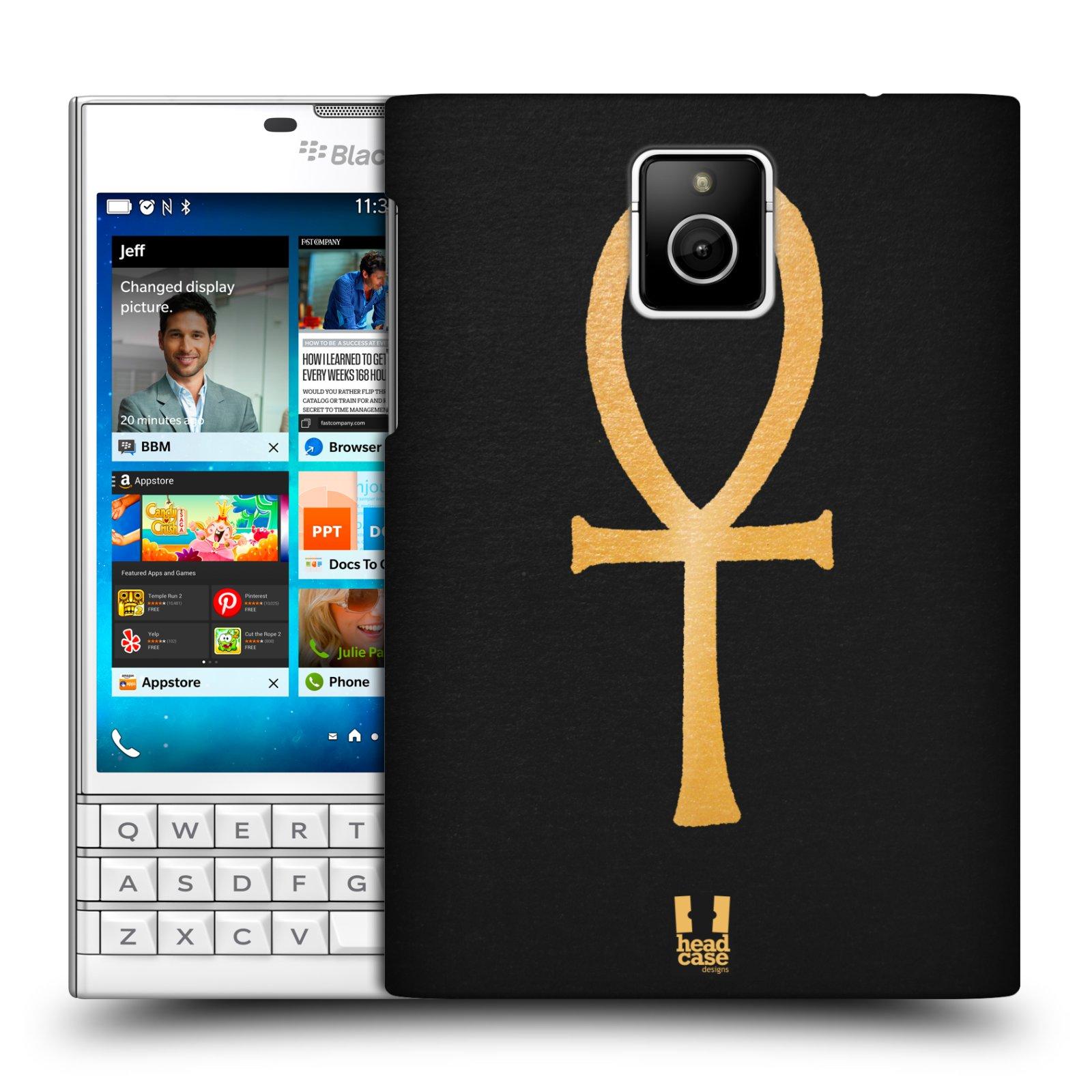 Plastové pouzdro na mobil Blackberry PASSPORT HEAD CASE EGYPT ANKH NILSKÝ KŘÍŽ (Kryt či obal na mobilní telefon Blackberry PASSPORT)