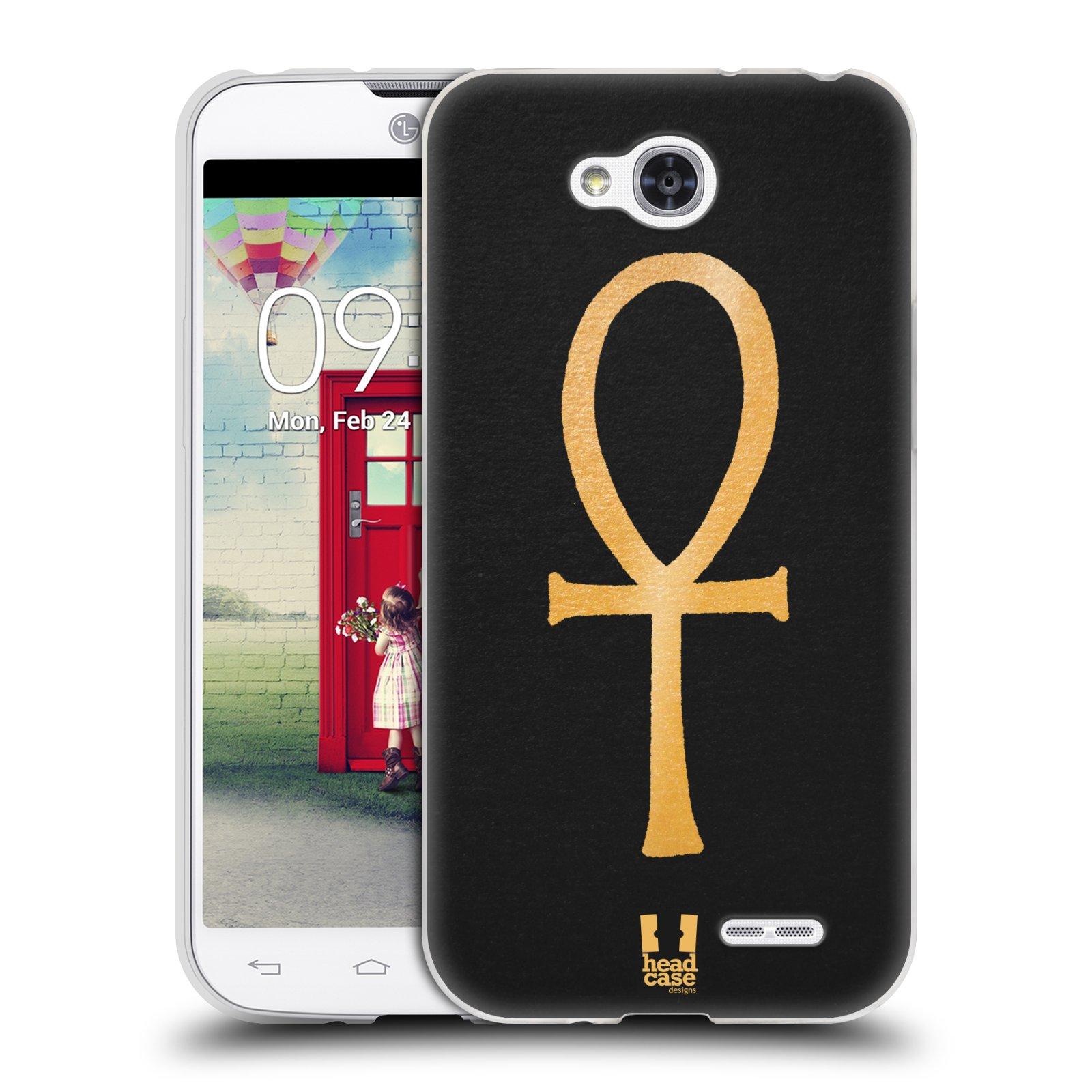 Silikonové pouzdro na mobil LG L90 HEAD CASE EGYPT ANKH NILSKÝ KŘÍŽ (Silikonový kryt či obal na mobilní telefon LG L90 D405n)