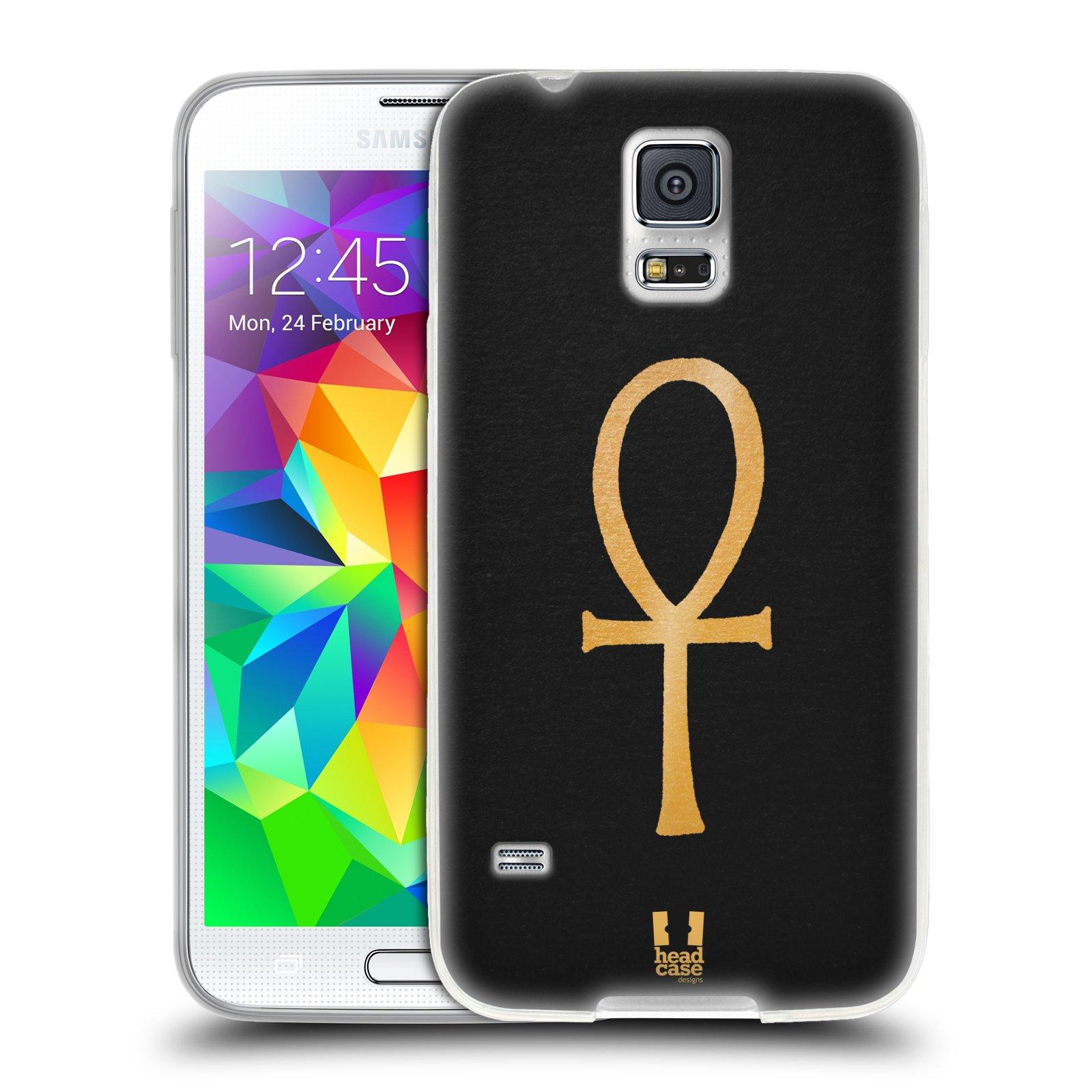 Silikonové pouzdro na mobil Samsung Galaxy S5 HEAD CASE EGYPT ANKH NILSKÝ KŘÍŽ (Silikonový kryt či obal na mobilní telefon Samsung Galaxy S5 SM-G900F)