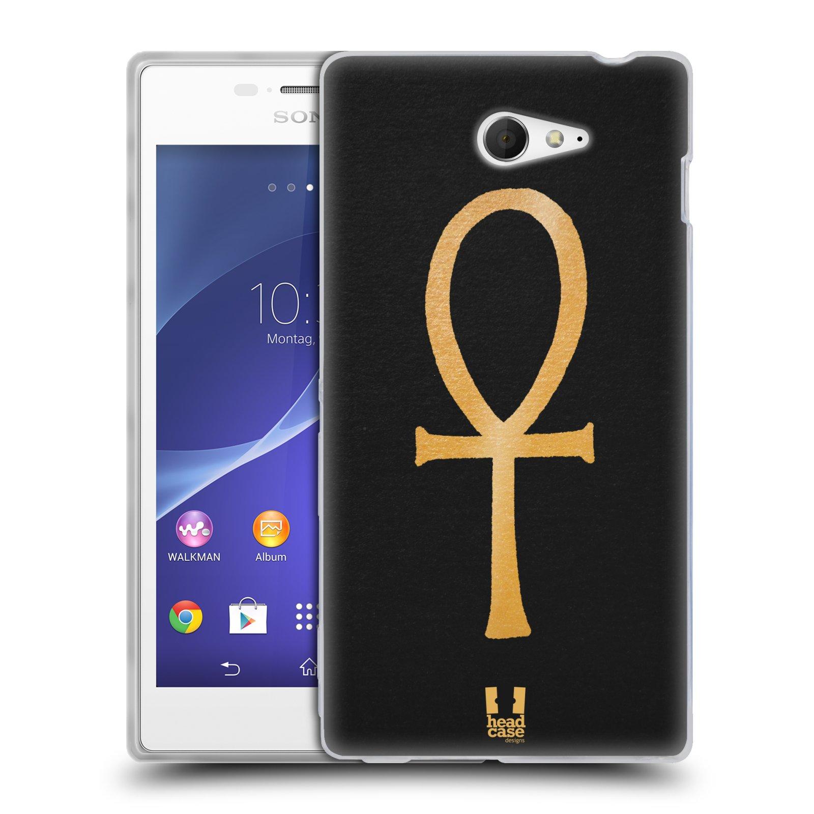 Silikonové pouzdro na mobil Sony Xperia M2 D2303 HEAD CASE EGYPT ANKH NILSKÝ KŘÍŽ (Silikonový Kryt či obal na mobilní telefon Sony Xperia M2)
