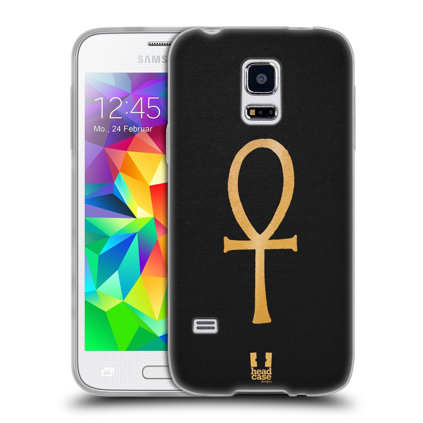 Silikonové pouzdro na mobil Samsung Galaxy S5 Mini HEAD CASE EGYPT ANKH NILSKÝ KŘÍŽ (Silikonový kryt či obal na mobilní telefon Samsung Galaxy S5 Mini SM-G800F)