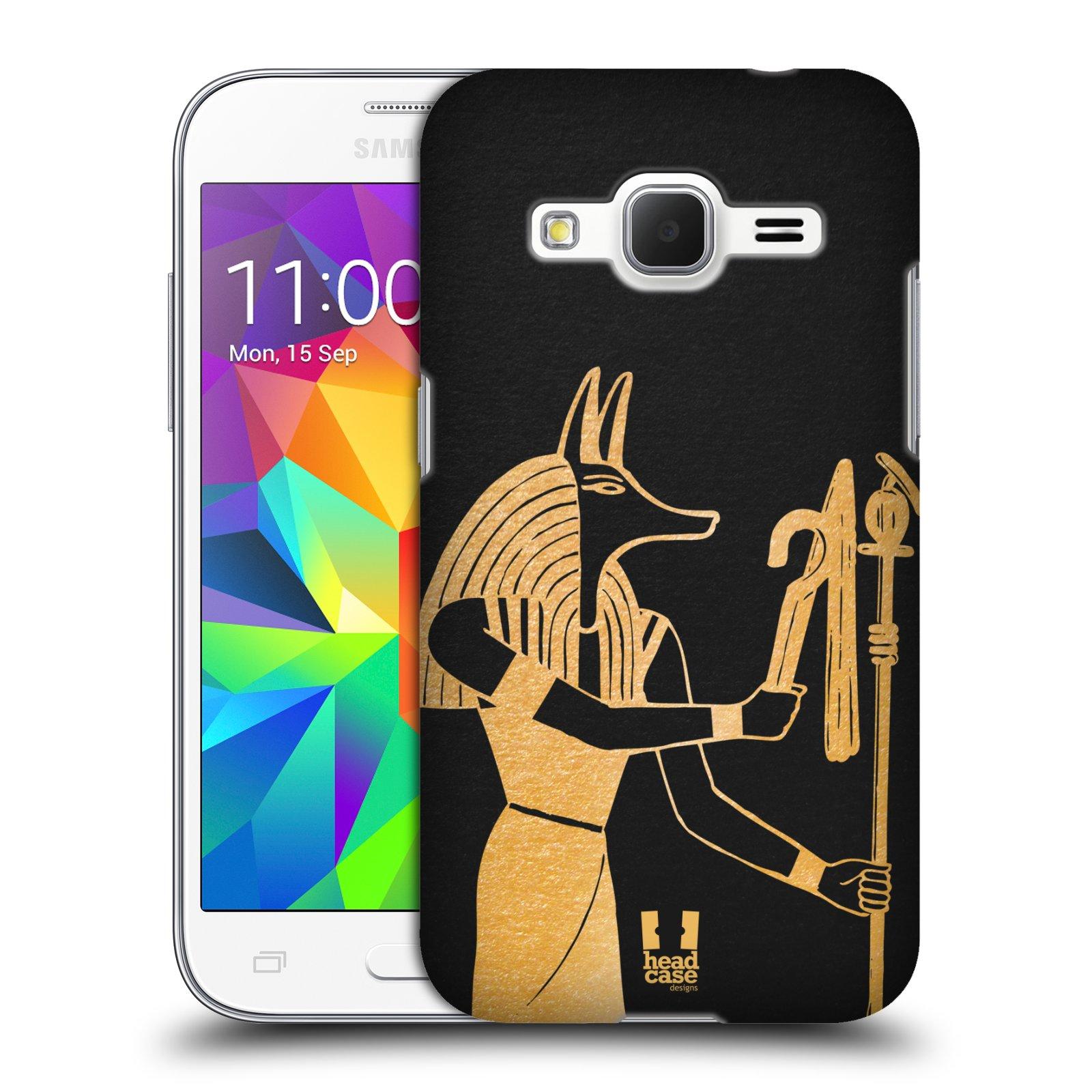 Plastové pouzdro na mobil Samsung Galaxy Core Prime VE HEAD CASE EGYPT ANUBIS (Kryt či obal na mobilní telefon Samsung Galaxy Core Prime LTE VE SM-G361F)