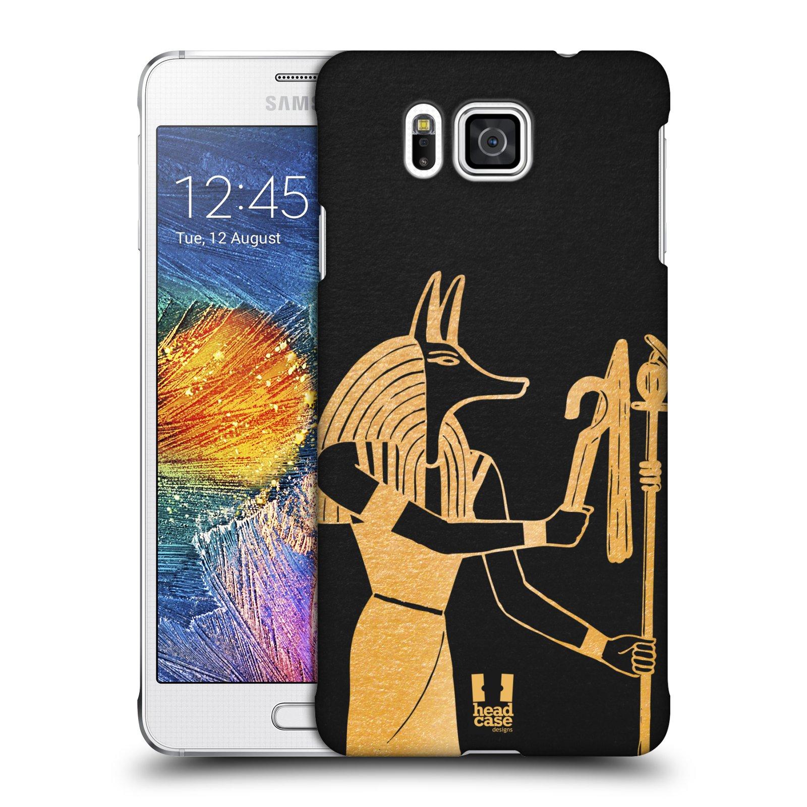 Plastové pouzdro na mobil Samsung Galaxy Alpha HEAD CASE EGYPT ANUBIS (Kryt či obal na mobilní telefon Samsung Galaxy Alpha SM-G850)