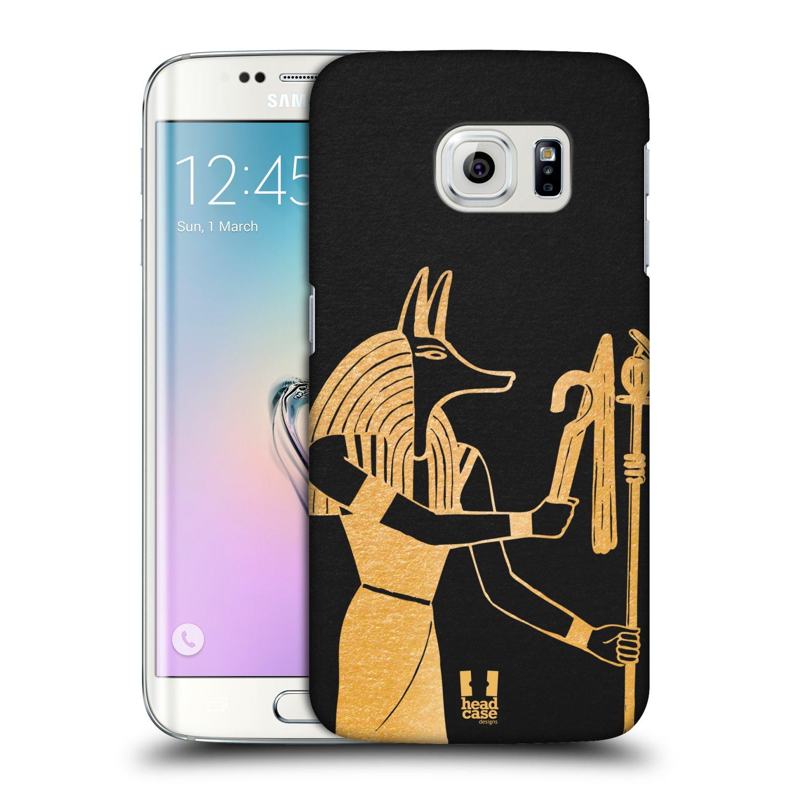 Plastové pouzdro na mobil Samsung Galaxy S6 Edge HEAD CASE EGYPT ANUBIS (Kryt či obal na mobilní telefon Samsung Galaxy S6 Edge SM-G925F)