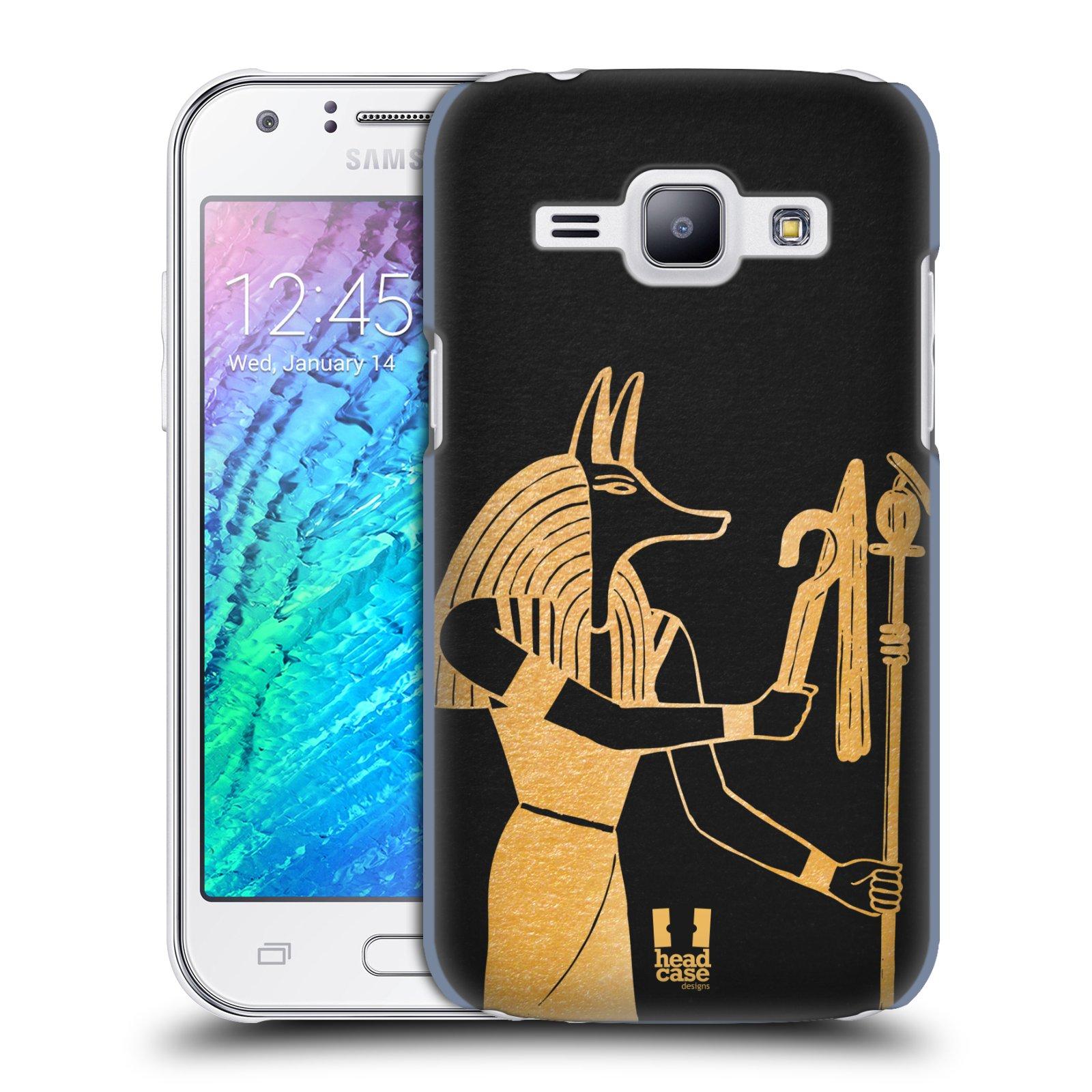 Plastové pouzdro na mobil Samsung Galaxy J1 HEAD CASE EGYPT ANUBIS (Kryt či obal na mobilní telefon Samsung Galaxy J1 a J1 Duos )