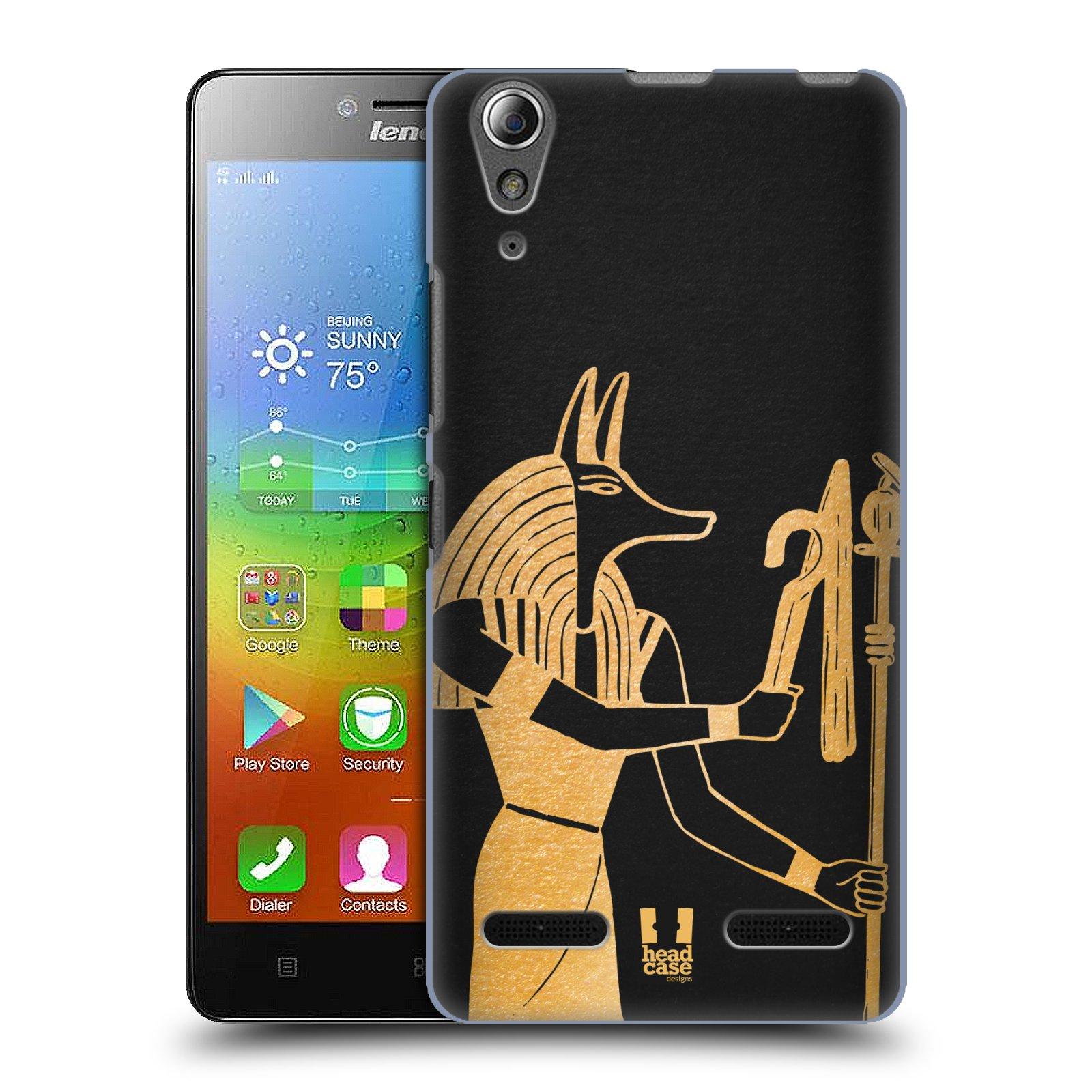 Plastové pouzdro na mobil Lenovo A6000 HEAD CASE EGYPT ANUBIS (Kryt či obal na mobilní telefon Lenovo A6000 / A6000 Plus)