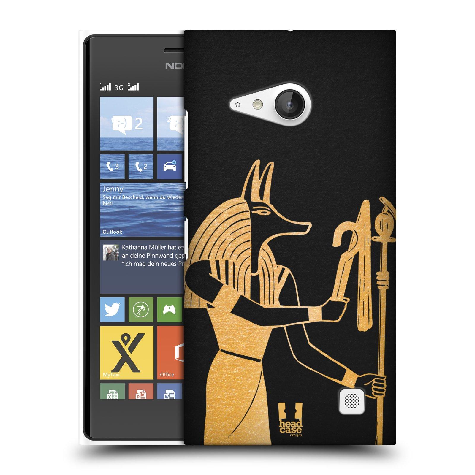 Plastové pouzdro na mobil Nokia Lumia 735 HEAD CASE EGYPT ANUBIS (Kryt či obal na mobilní telefon Nokia Lumia 735)