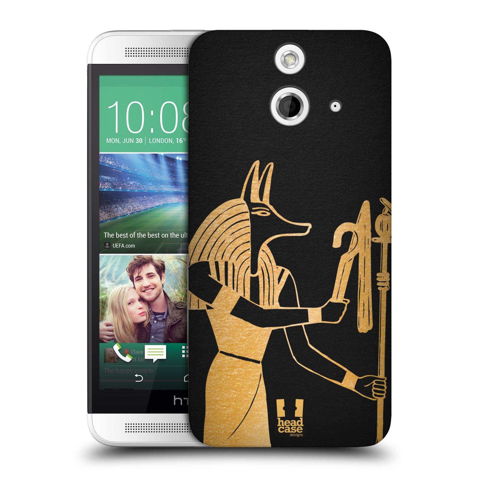 Plastové pouzdro na mobil HTC ONE E8 HEAD CASE EGYPT ANUBIS (Kryt či obal na mobilní telefon HTC ONE E8)