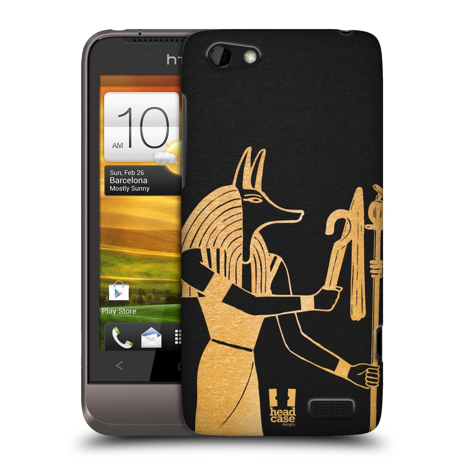 Plastové pouzdro na mobil HTC ONE V HEAD CASE EGYPT ANUBIS (Kryt či obal na mobilní telefon HTC ONE V)