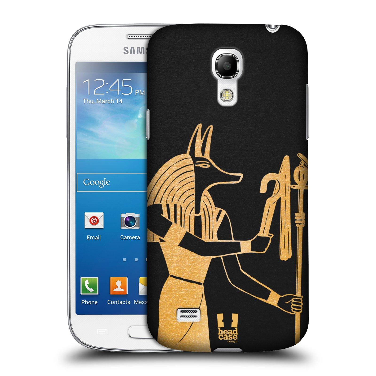 Plastové pouzdro na mobil Samsung Galaxy S4 Mini VE HEAD CASE EGYPT ANUBIS (Kryt či obal na mobilní telefon Samsung Galaxy S4 Mini VE GT-i9195i (nepasuje na verzi Black Edition))
