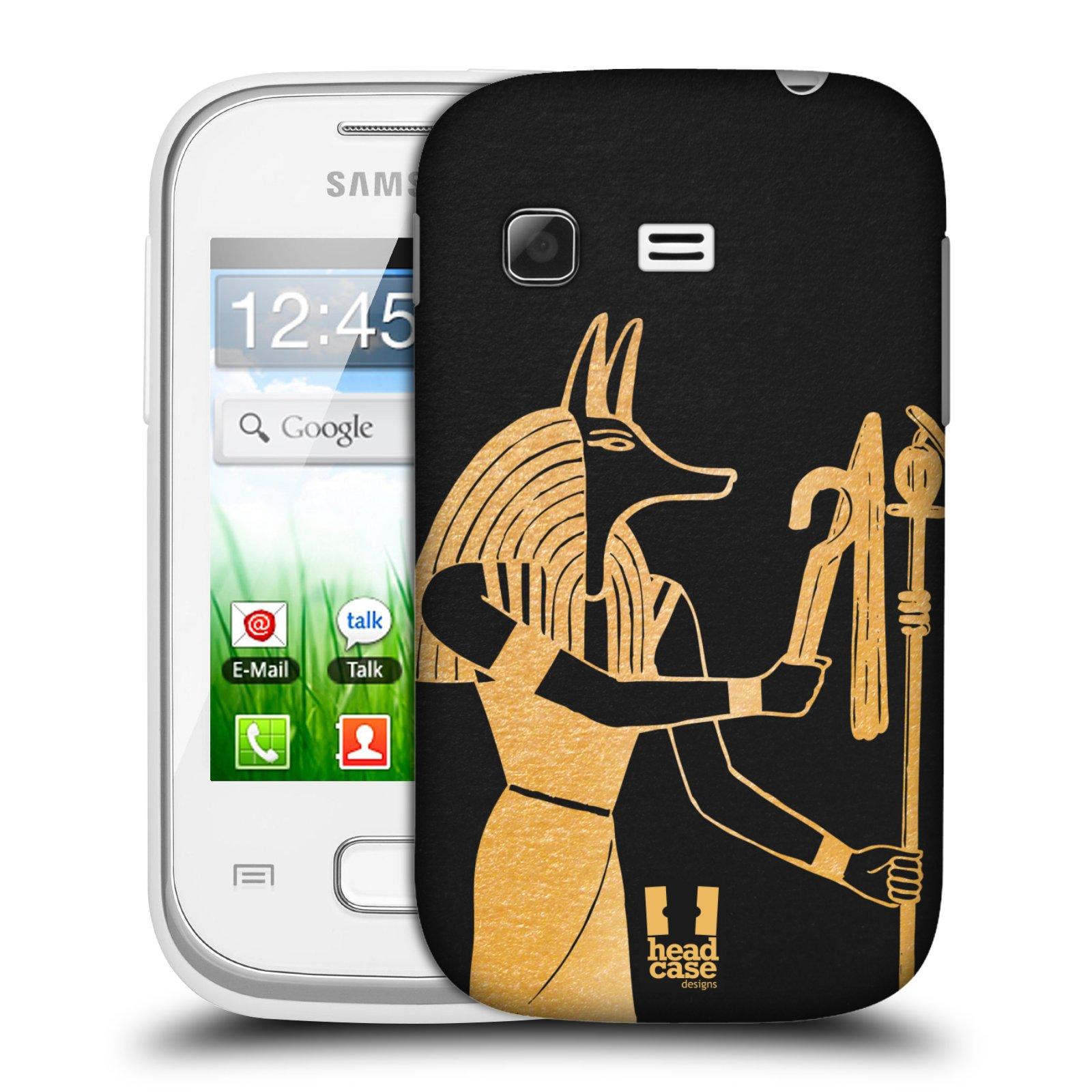 Plastové pouzdro na mobil Samsung Galaxy Pocket HEAD CASE EGYPT ANUBIS (Kryt či obal na mobilní telefon Samsung Galaxy Pocket GT-S5300)