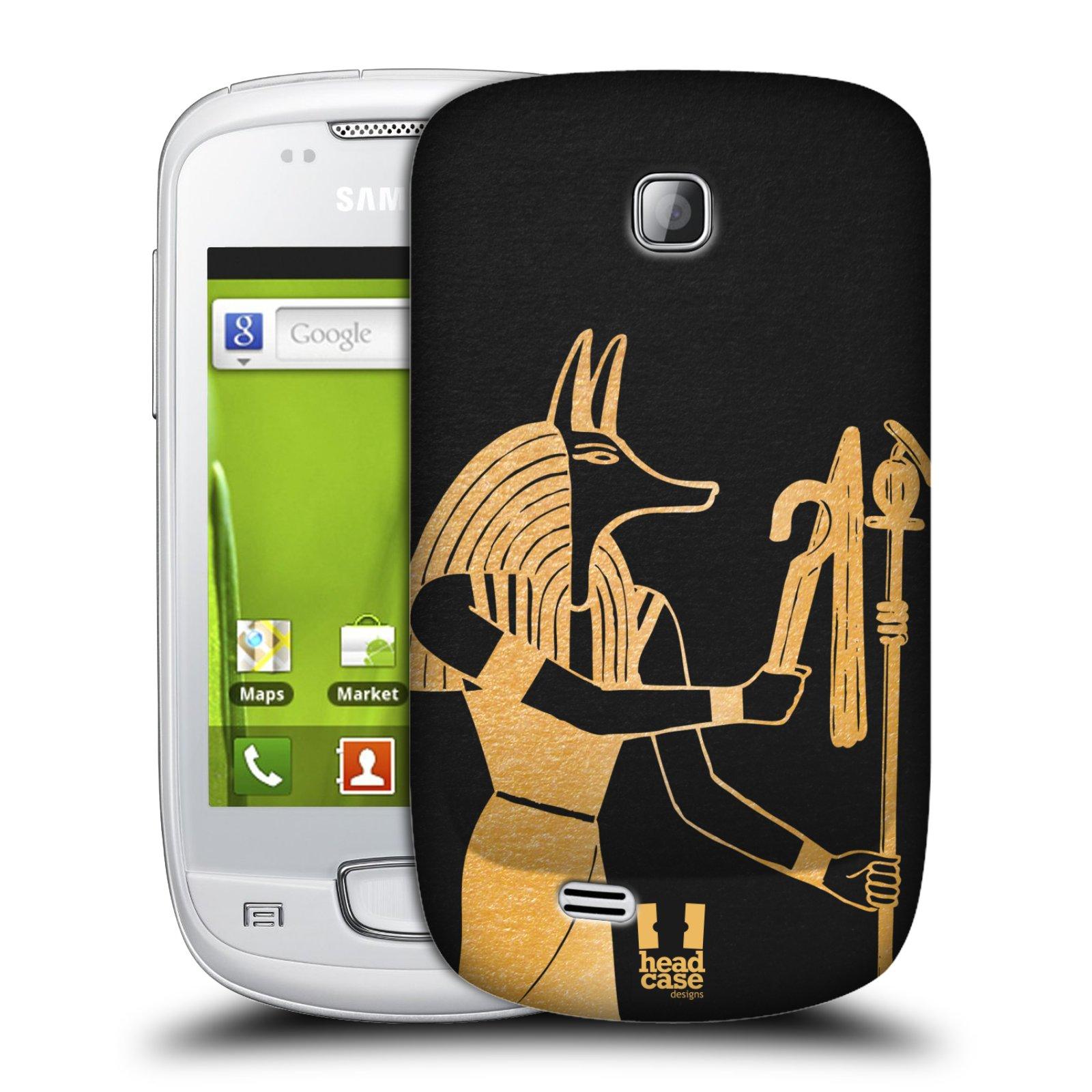 Plastové pouzdro na mobil Samsung Galaxy Mini HEAD CASE EGYPT ANUBIS (Kryt či obal na mobilní telefon Samsung Galaxy Mini GT-S5570 / GT-S5570i)