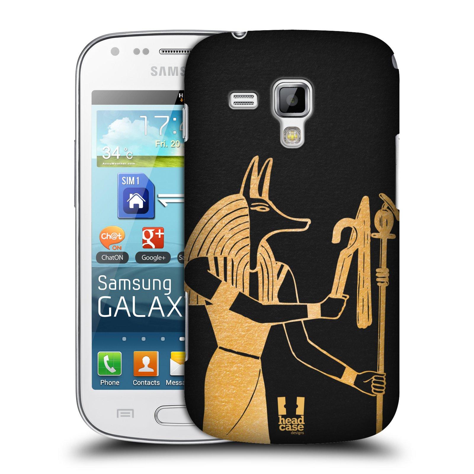 Plastové pouzdro na mobil Samsung Galaxy Trend Plus HEAD CASE EGYPT ANUBIS (Kryt či obal na mobilní telefon Samsung Galaxy Trend Plus GT-S7580)