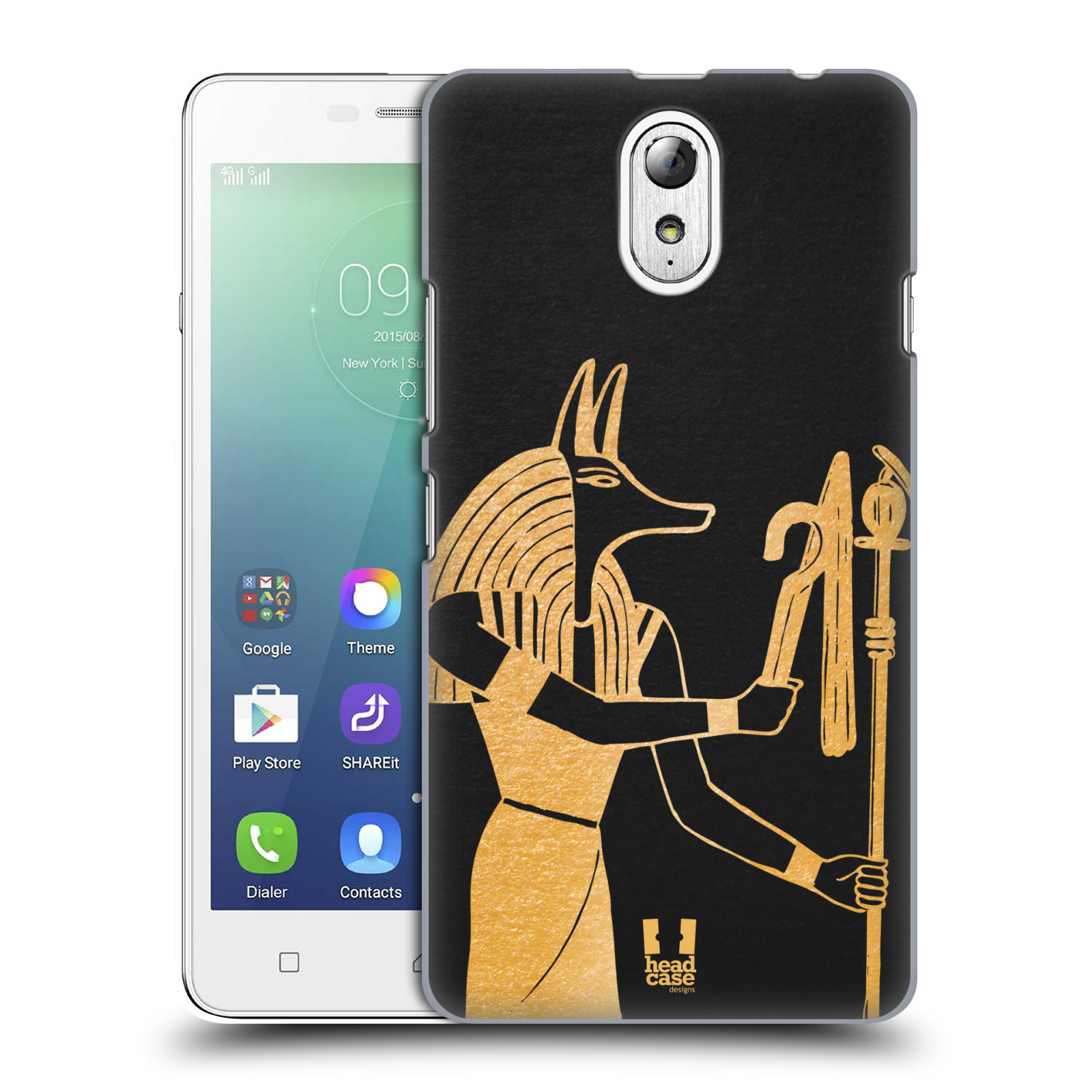 Plastové pouzdro na mobil Lenovo Vibe P1m HEAD CASE EGYPT ANUBIS