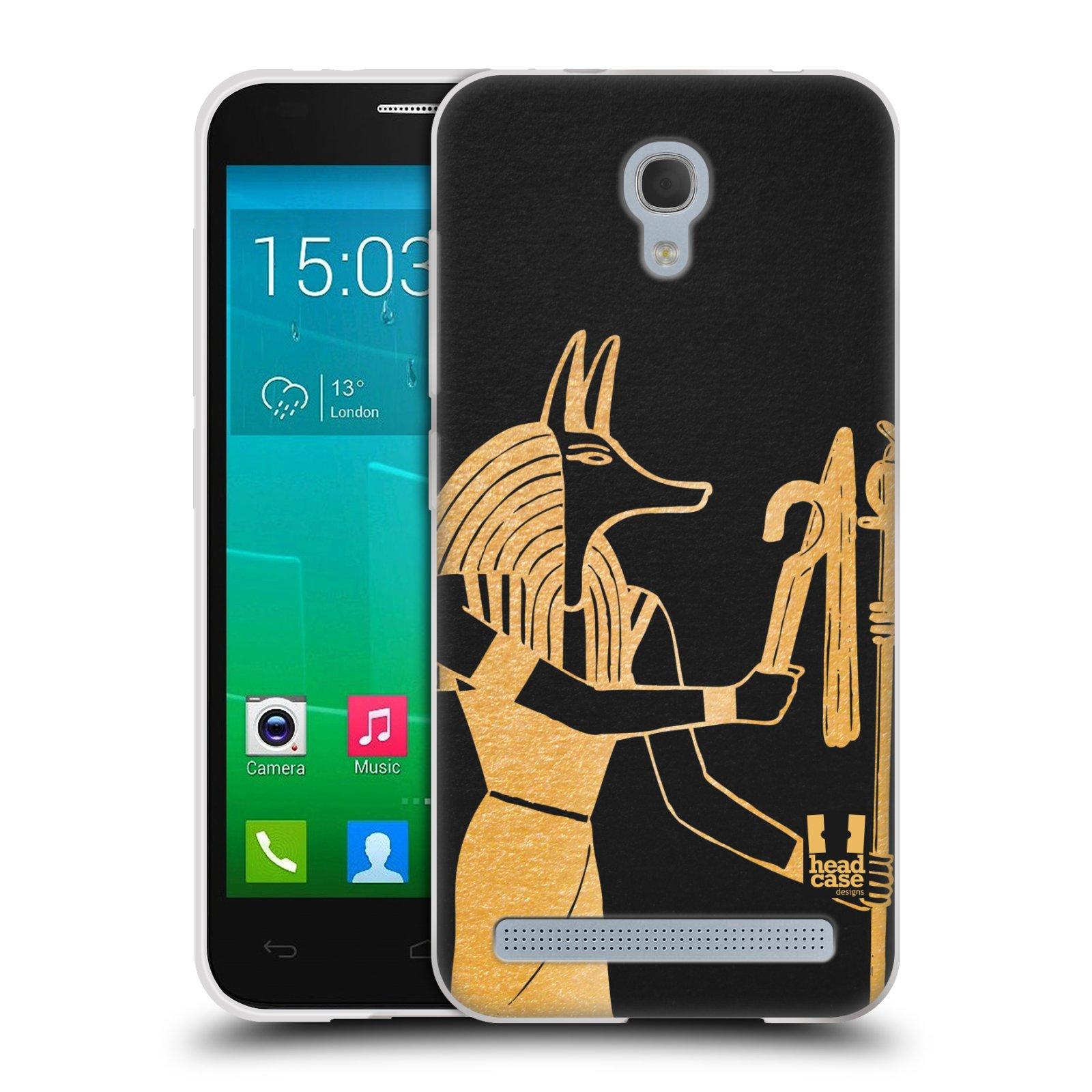 Silikonové pouzdro na mobil Alcatel One Touch Idol 2 Mini S 6036Y HEAD CASE EGYPT ANUBIS (Silikonový kryt či obal na mobilní telefon Alcatel Idol 2 Mini S OT-6036Y)