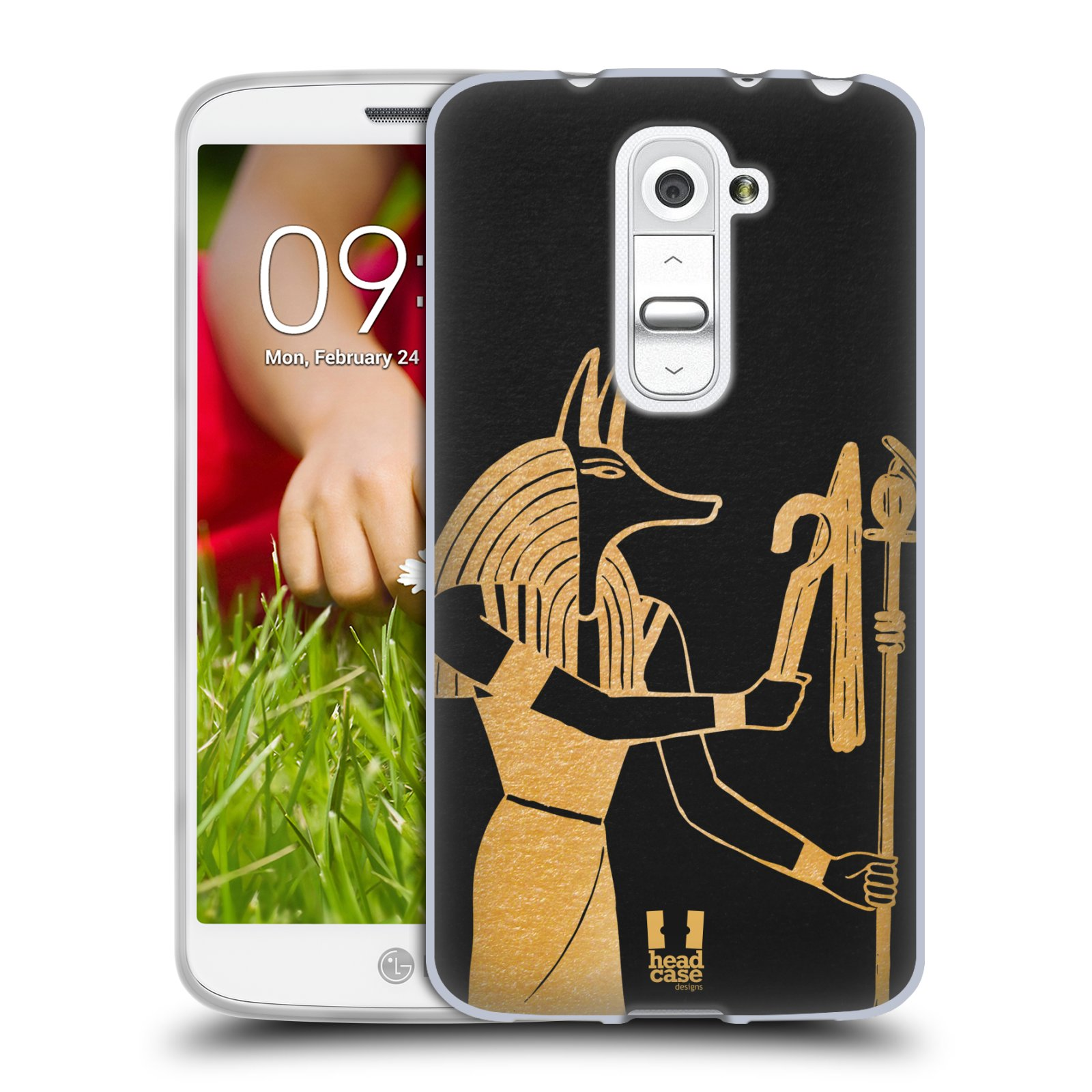Silikonové pouzdro na mobil LG G2 Mini HEAD CASE EGYPT ANUBIS (Silikonový kryt či obal na mobilní telefon LG G2 Mini D620)