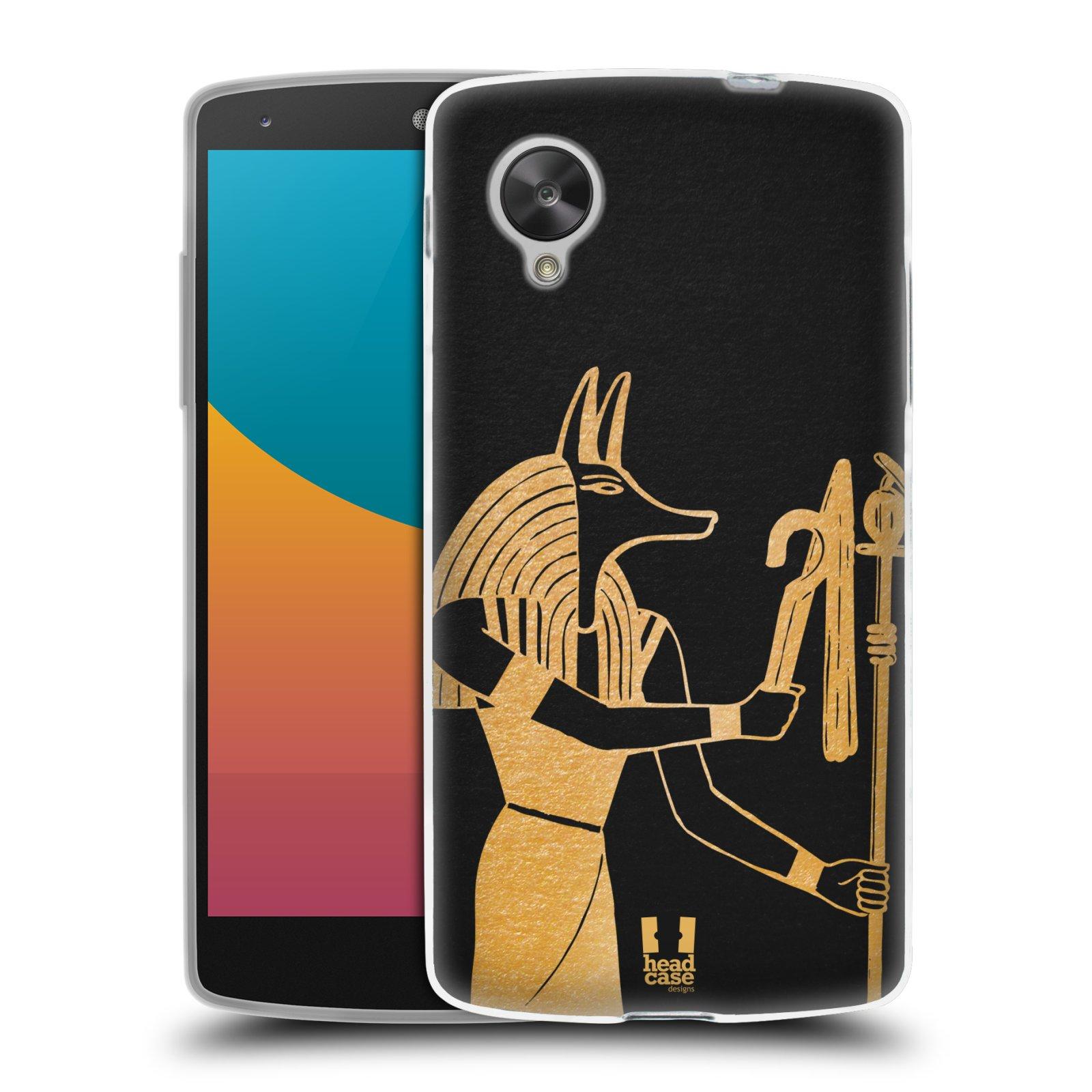 Silikonové pouzdro na mobil LG Nexus 5 HEAD CASE EGYPT ANUBIS (Silikonový kryt či obal na mobilní telefon LG Google Nexus 5 D821)