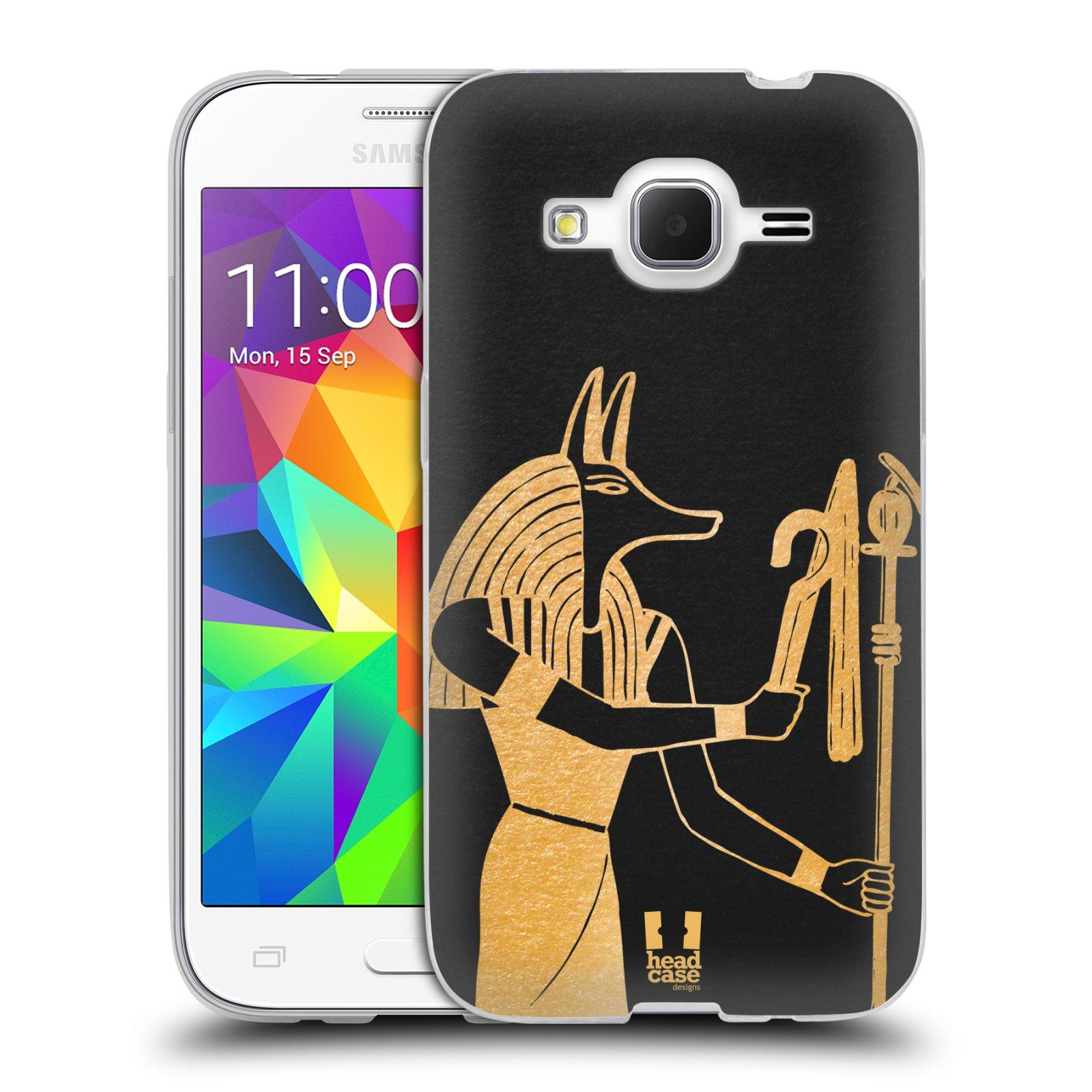 Silikonové pouzdro na mobil Samsung Galaxy Core Prime LTE HEAD CASE EGYPT ANUBIS (Silikonový kryt či obal na mobilní telefon Samsung Galaxy Core Prime LTE SM-G360)