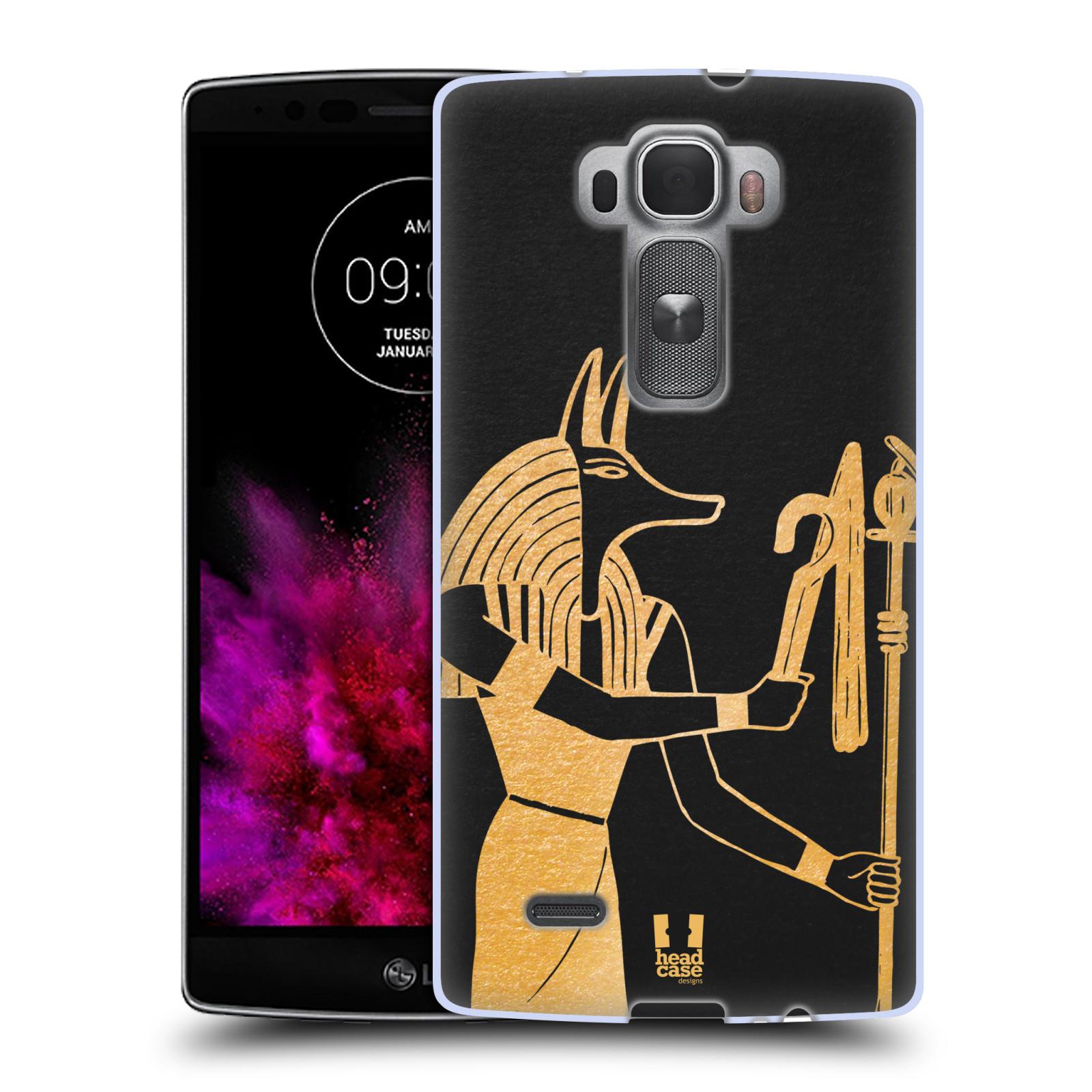 Silikonové pouzdro na mobil LG G Flex 2 HEAD CASE EGYPT ANUBIS (Silikonový kryt či obal na mobilní telefon LG G Flex 2 H955)