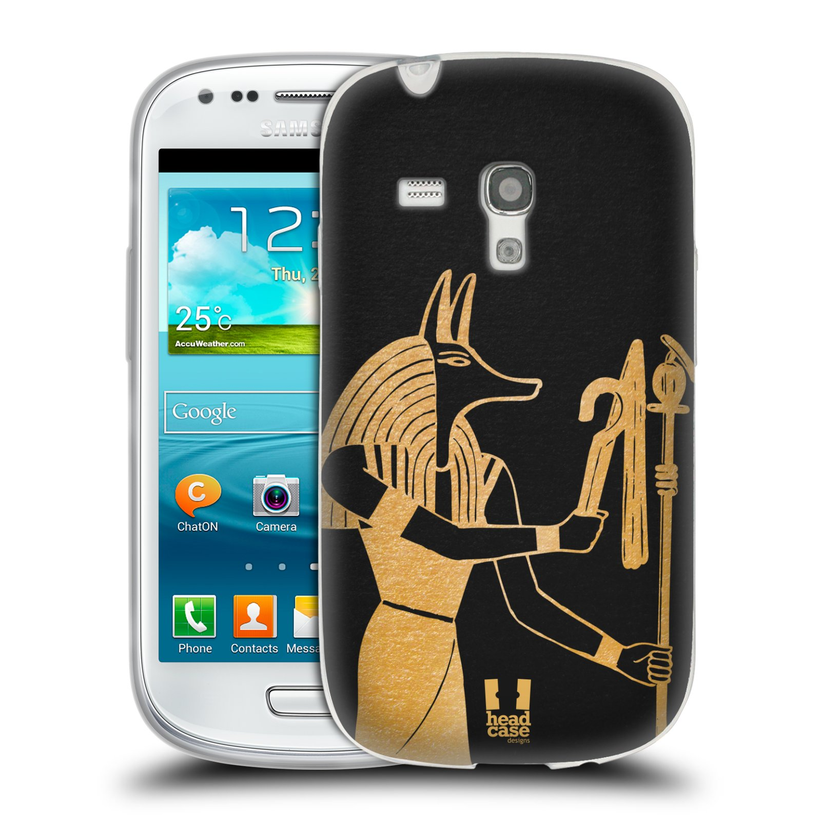 Silikonové pouzdro na mobil Samsung Galaxy S III Mini HEAD CASE EGYPT ANUBIS (Silikonový kryt či obal na mobilní telefon Samsung Galaxy S III Mini GT-i8190)
