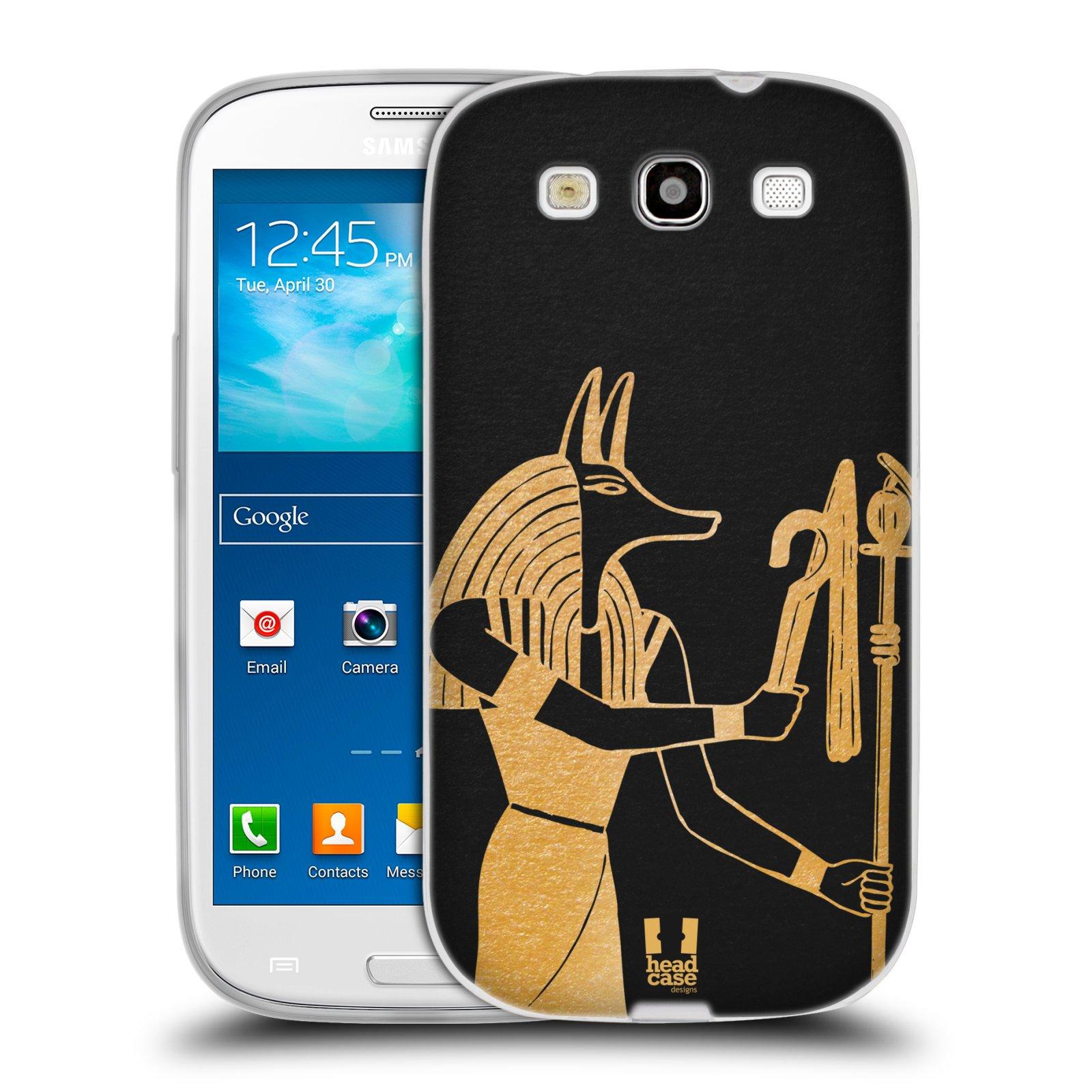 Silikonové pouzdro na mobil Samsung Galaxy S3 Neo HEAD CASE EGYPT ANUBIS (Silikonový kryt či obal na mobilní telefon Samsung Galaxy S3 Neo GT-i9301i)