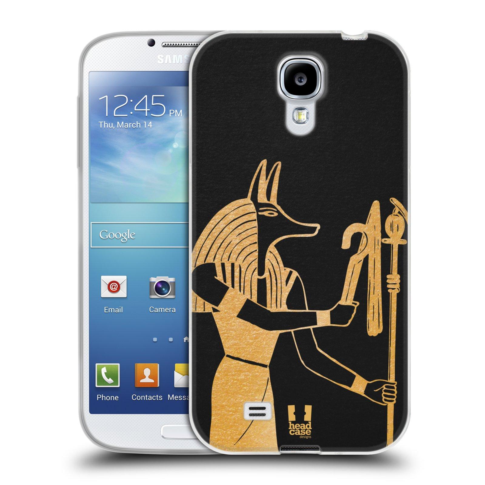 Silikonové pouzdro na mobil Samsung Galaxy S4 HEAD CASE EGYPT ANUBIS (Silikonový kryt či obal na mobilní telefon Samsung Galaxy S4 GT-i9505 / i9500)