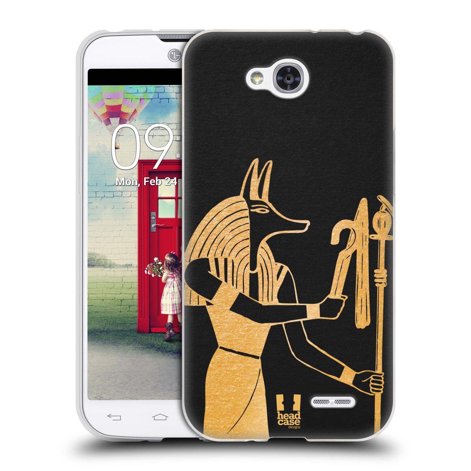 Silikonové pouzdro na mobil LG L90 HEAD CASE EGYPT ANUBIS (Silikonový kryt či obal na mobilní telefon LG L90 D405n)